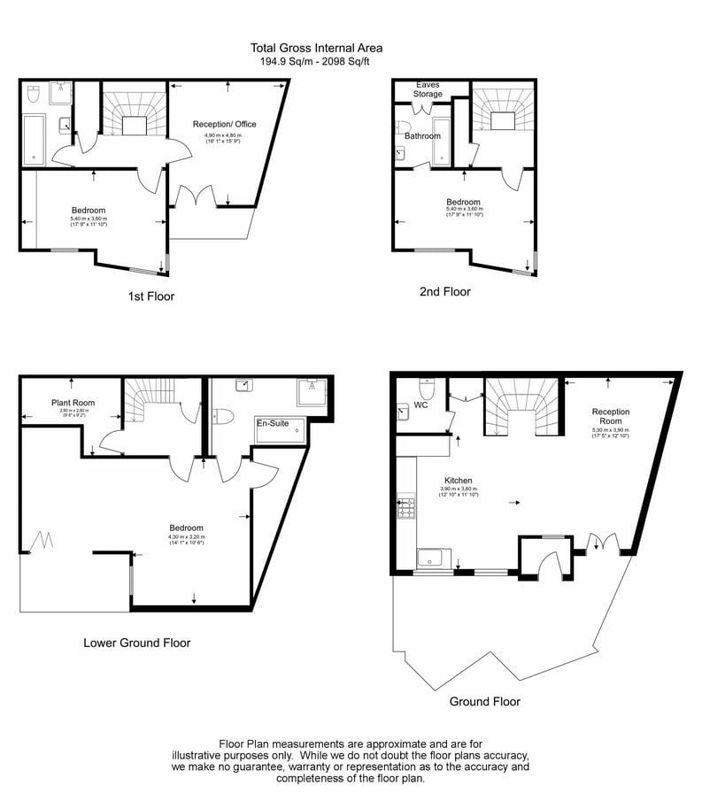 4 bedroom(s) house to sale in Coachworks Mews, Hampstead Borders , London-Floorplan