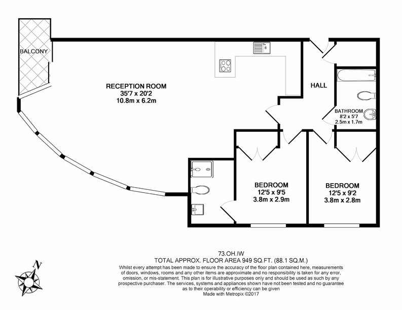 2 bedroom(s) apartment to sale in Octavia House, Imperial Wharf, Townmead Road-Floorplan