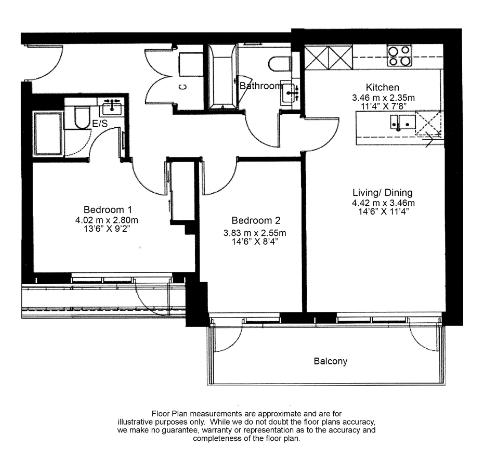 2 bedroom(s) apartment to sale in Belgravia House, Dickens Yard, Ealing-Floorplan