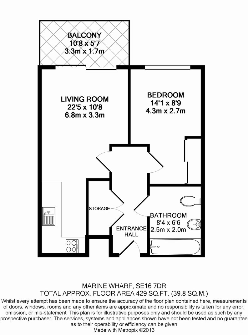 1 bedroom(s) apartment to sale in Sirius House, Seafarer Way, Surrey Quays-Floorplan
