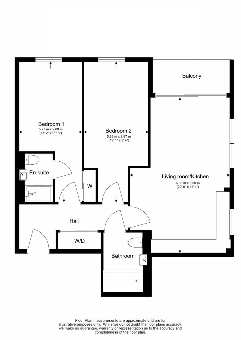 2 bedroom(s) apartment to sale in Lismore Boulevard, Colindale, Colindale Gardens, London-Floorplan