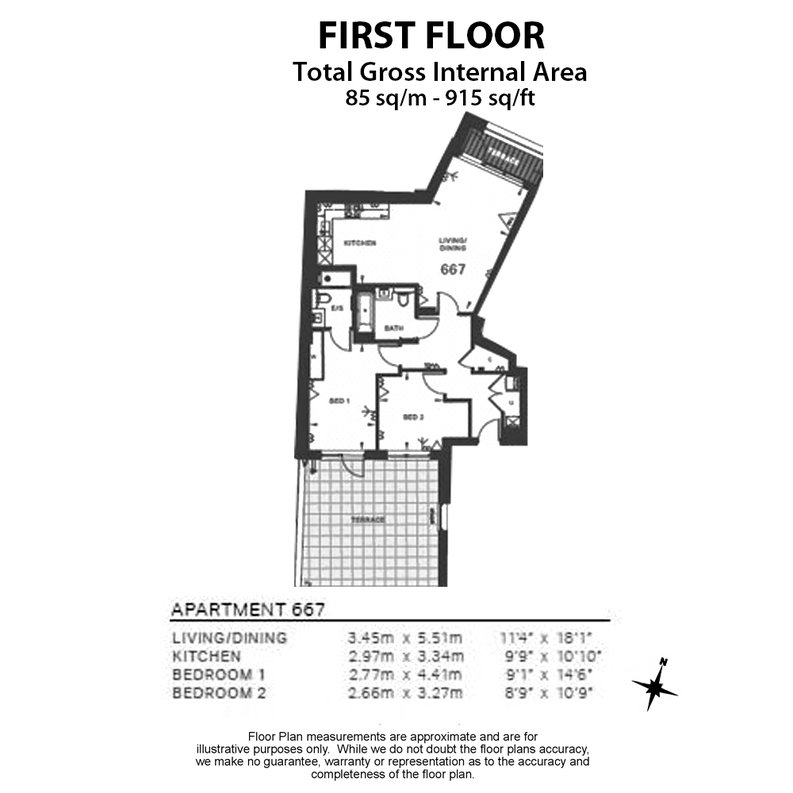 2 bedroom(s) apartment to sale in Quartz House, Dickens Yard, 12 New Broadway, Ealing-Floorplan