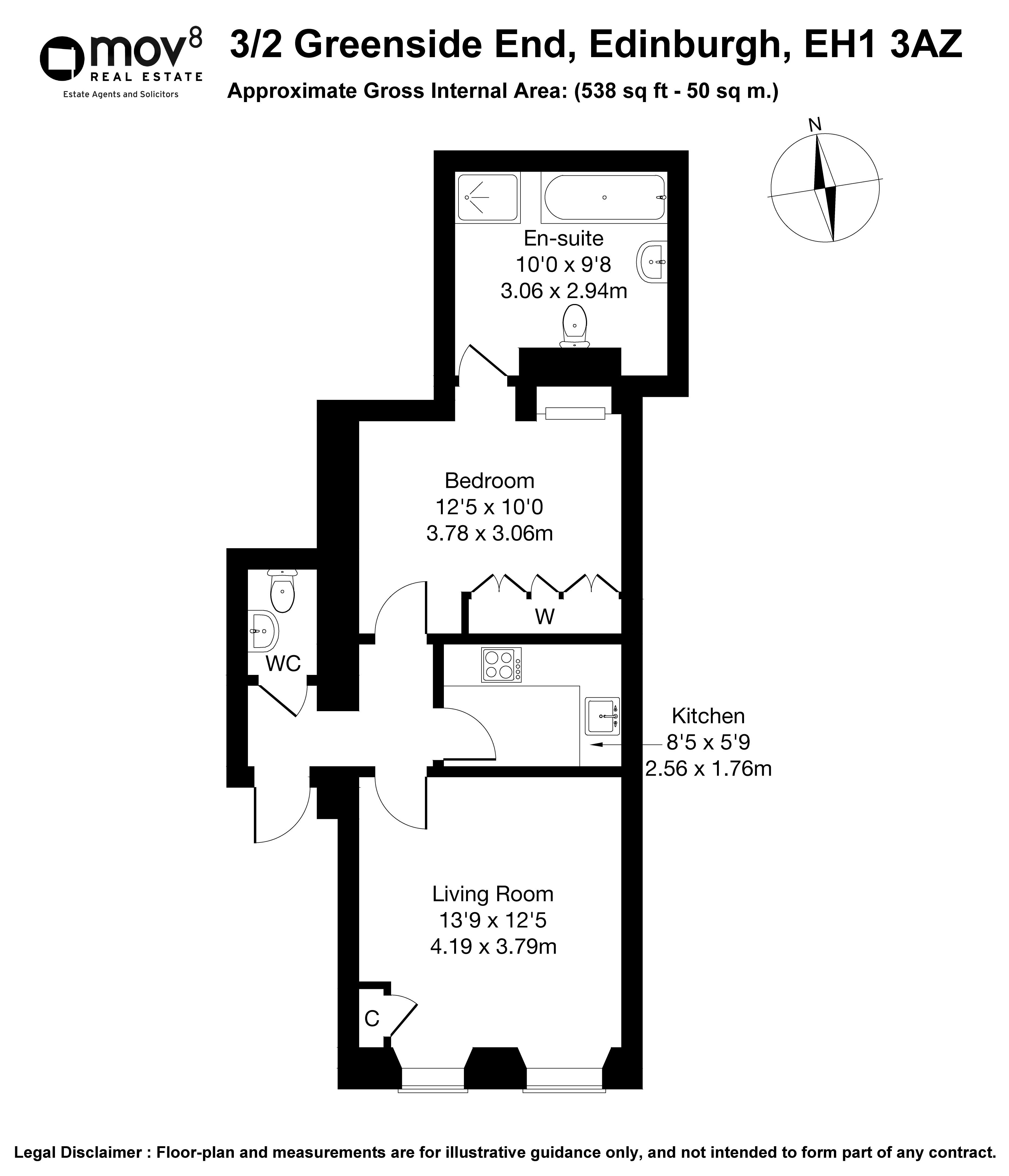 Floorplan 1 of 3/2, Greenside End, Calton, Edinburgh, EH1 3AZ