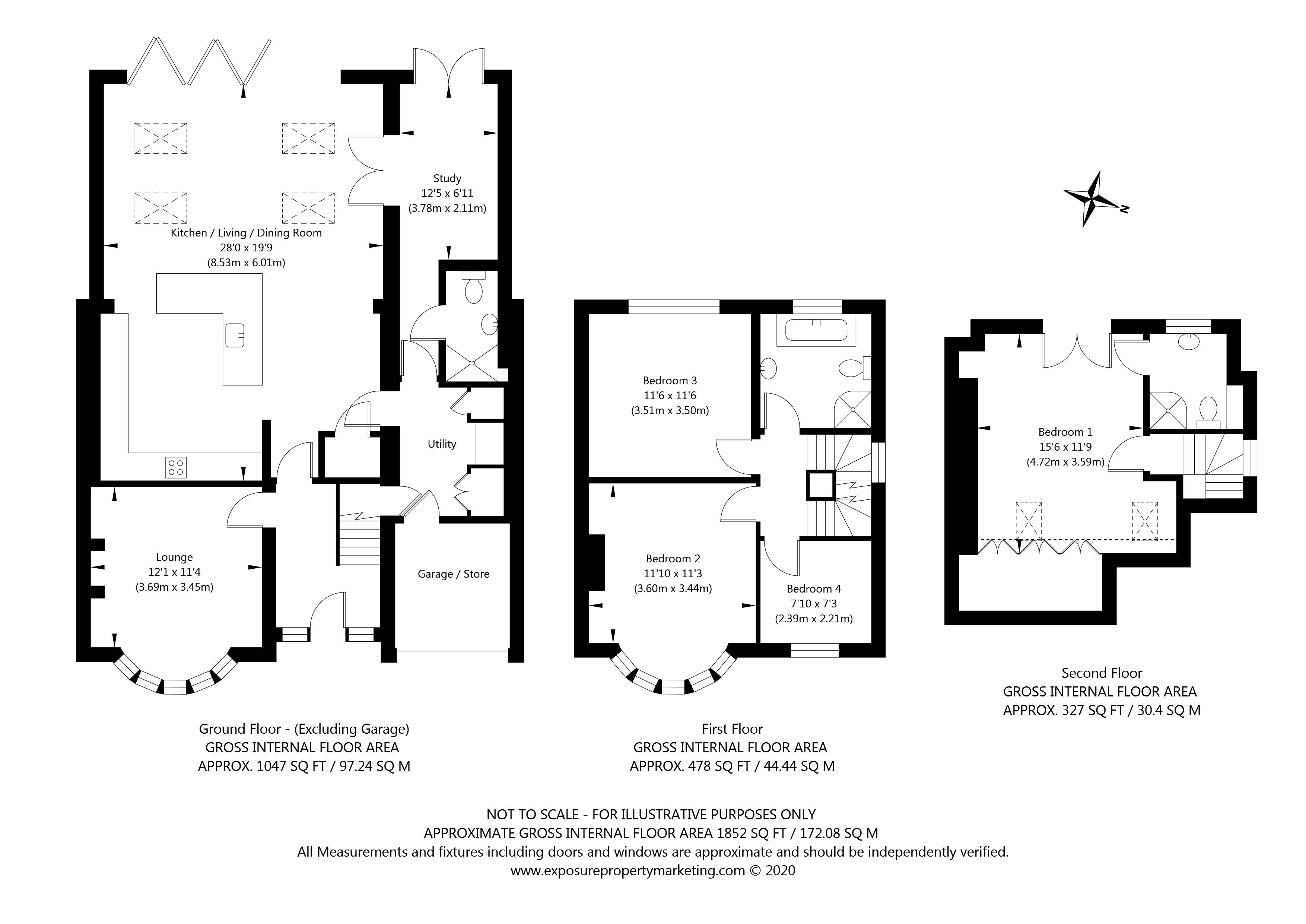Oakland Avenue, York property floorplan