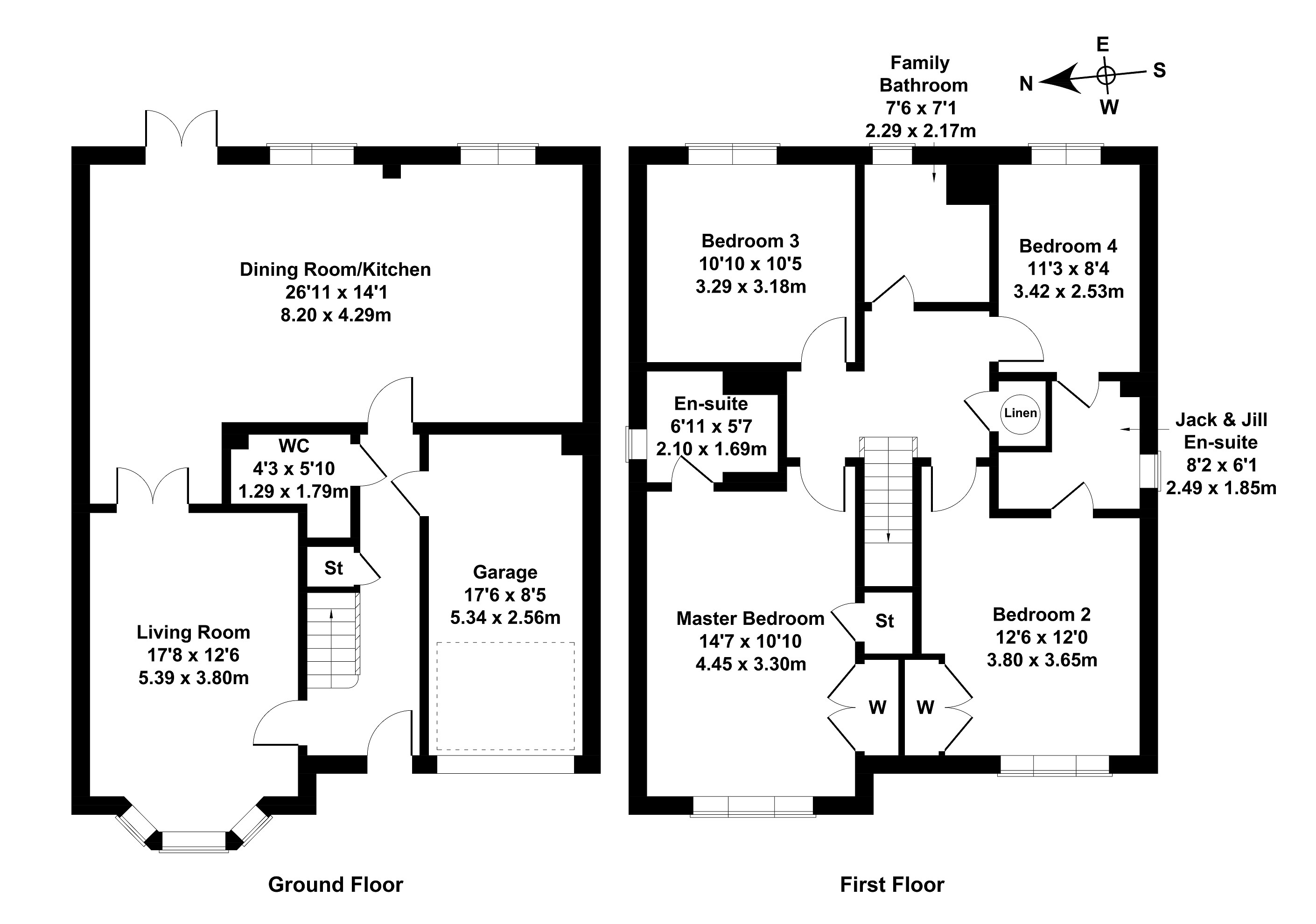 Floorplan 1 of 6 Brock View, Currie, Edinburgh, EH14 5TW