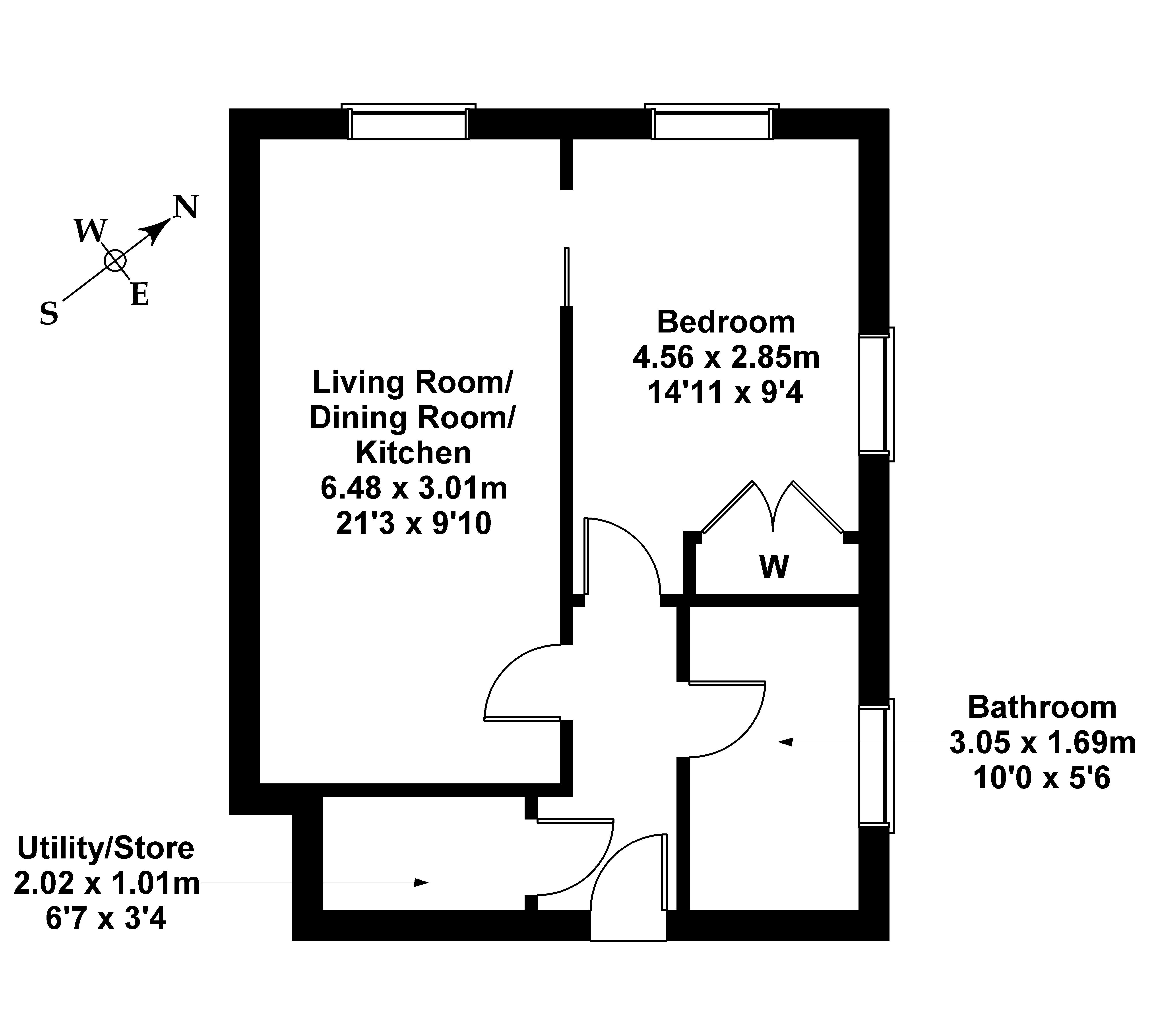 Floorplan 1 of Flat 8, 6 Arneil Place, Crewe, Edinburgh, EH5 2GP