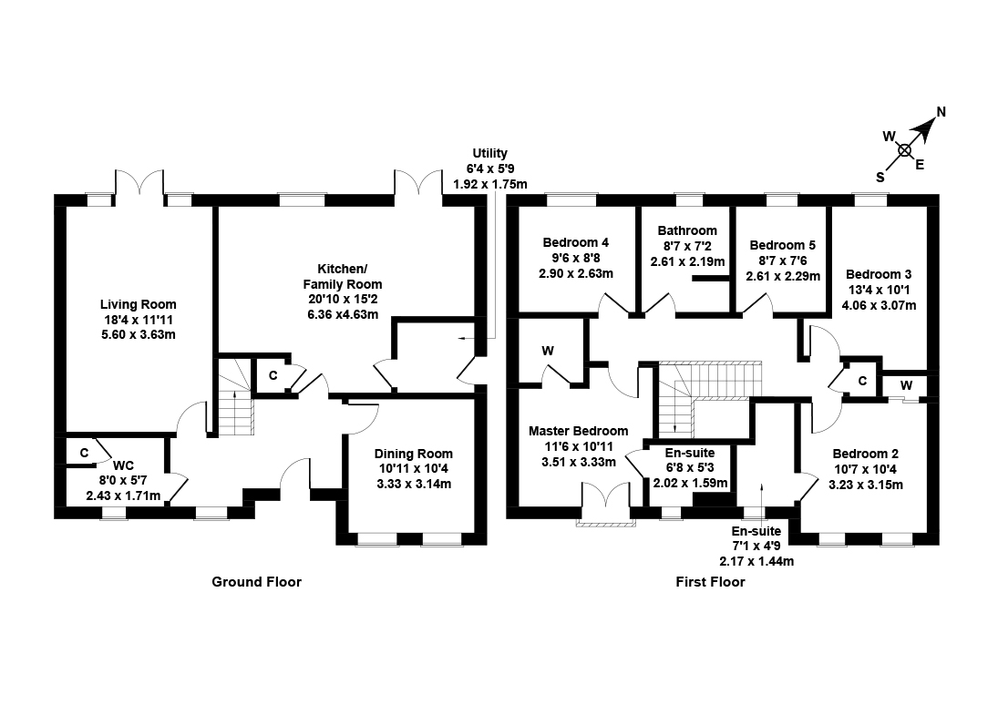 Floorplan 1 of  3 South Chesters Gardens, Bonnyrigg, Midlothian, EH19 3GF