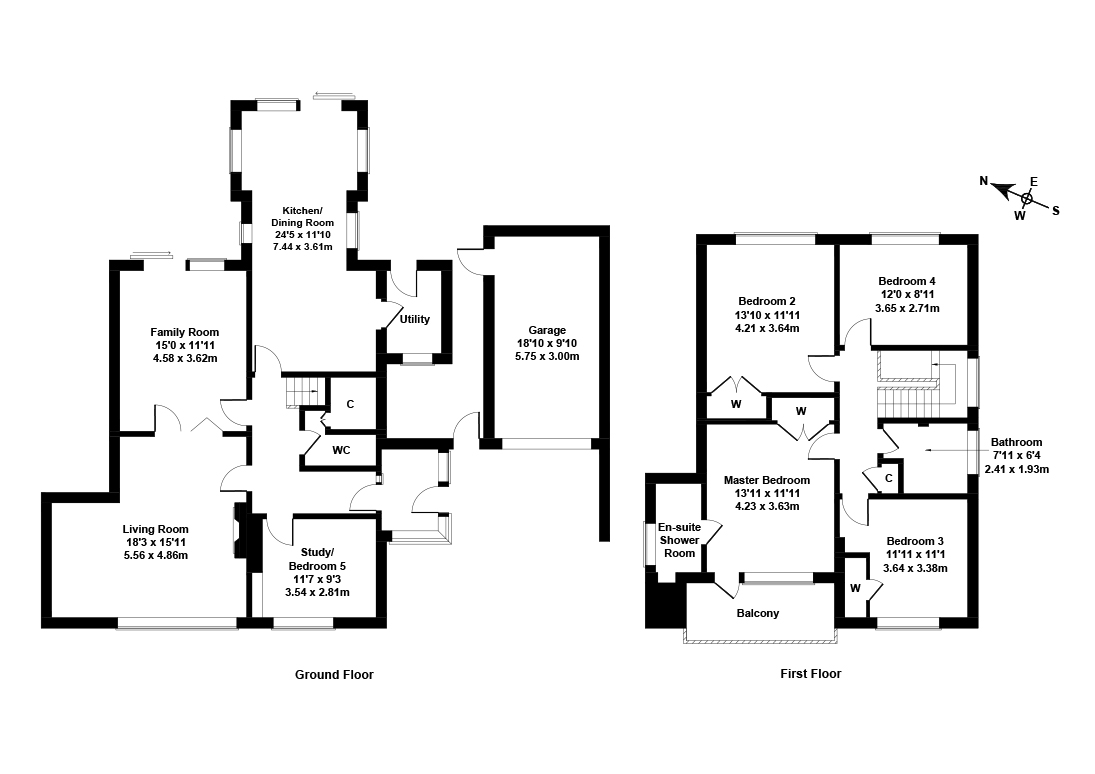 Floorplan 1 of 22 Barnton Park Drive, Barnton, Edinburgh, EH4 6HF