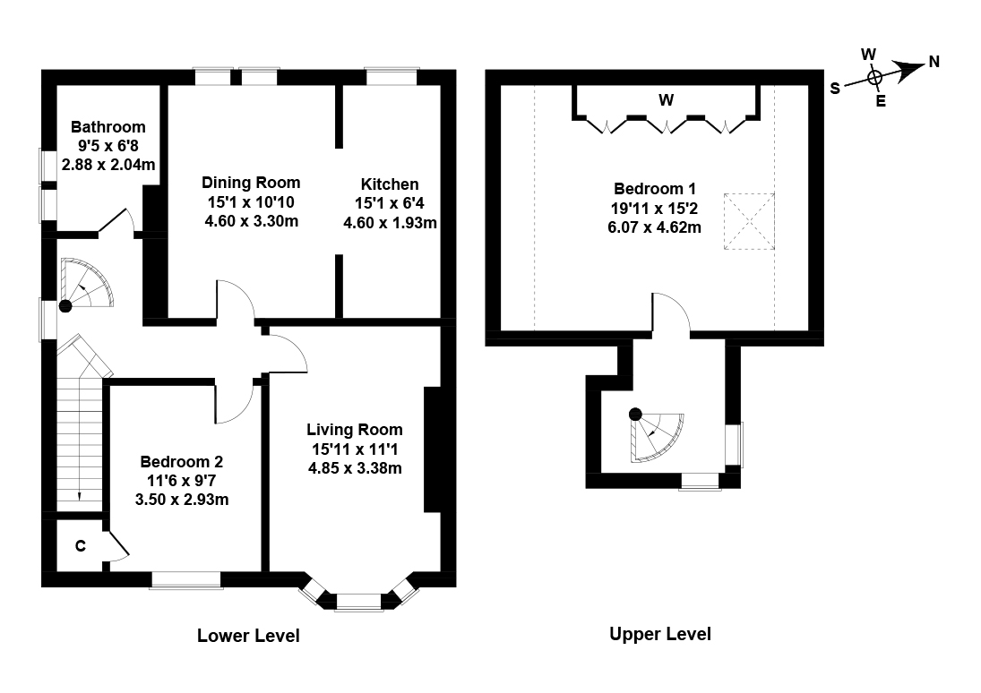 Floorplan 1 of 100 Pilton Avenue, Crewe, Edinburgh, EH5 2HD