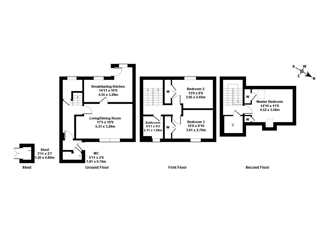 Floorplan 1 of 4 Muirfield Court, Mill Wynd, East Linton, East Lothian, EH40 3AE