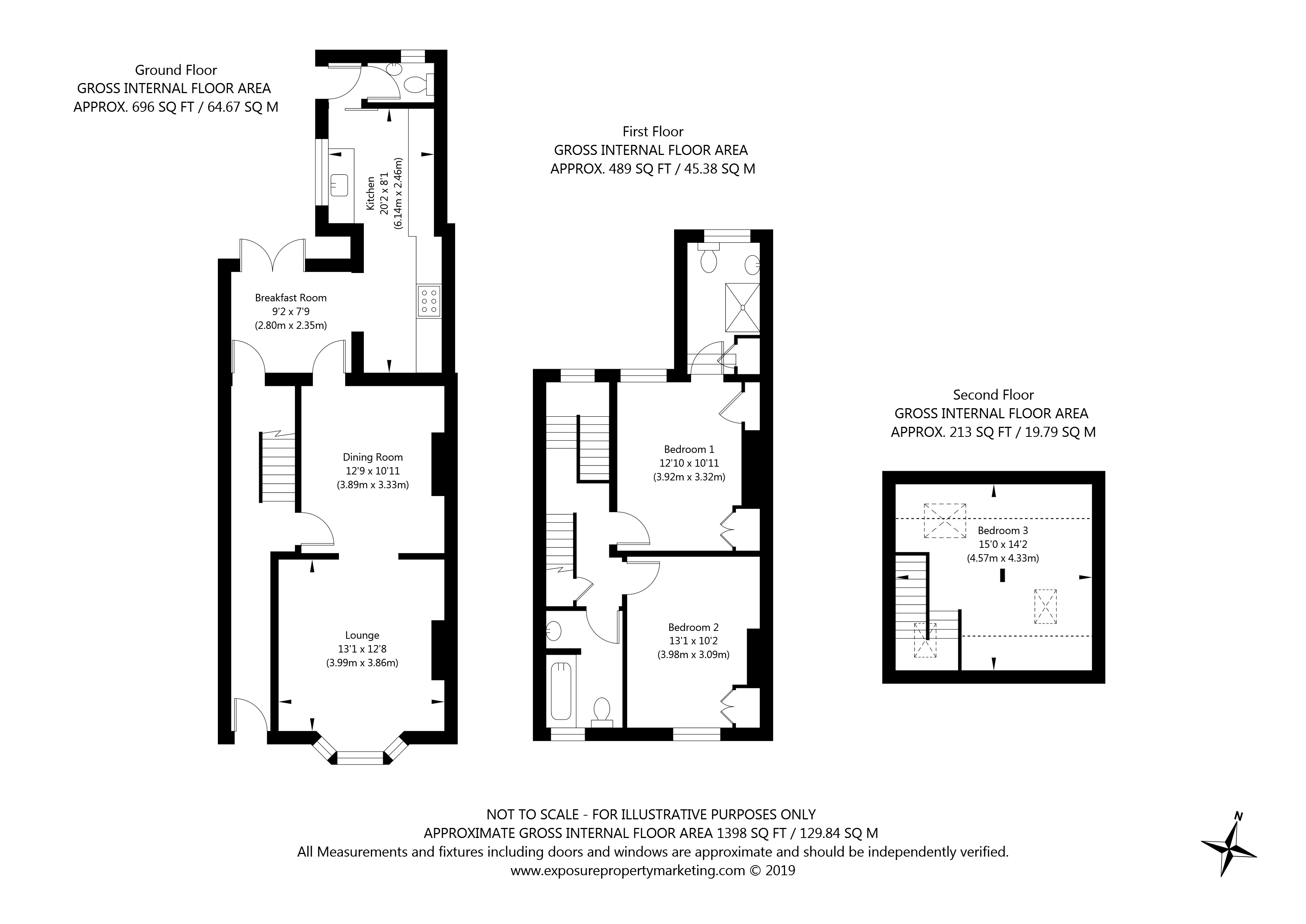 127 East Parade, York property floorplan