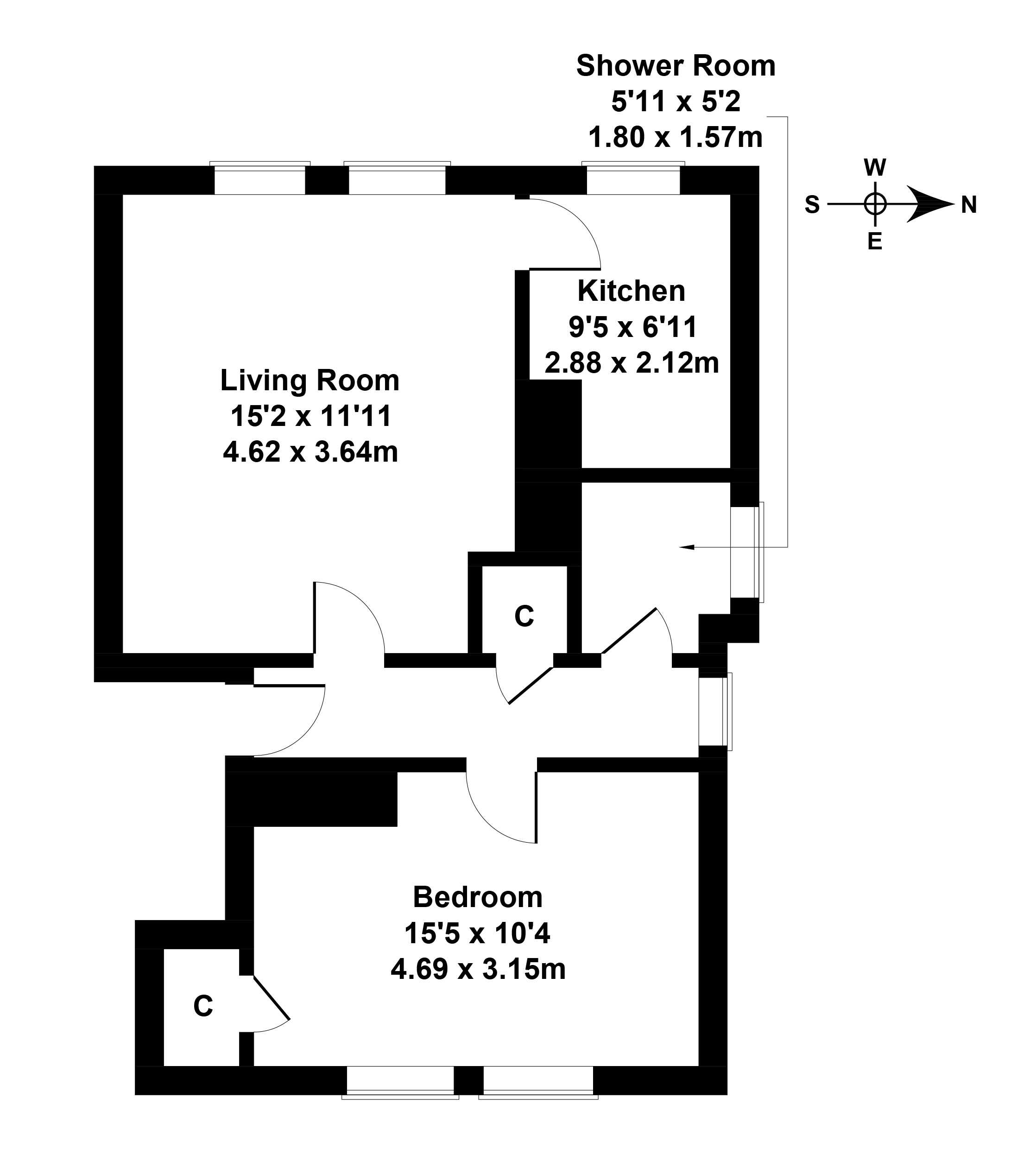 Floorplan 1 of 21a Melville Gardens, Burntisland, Fife, KY3 0DT