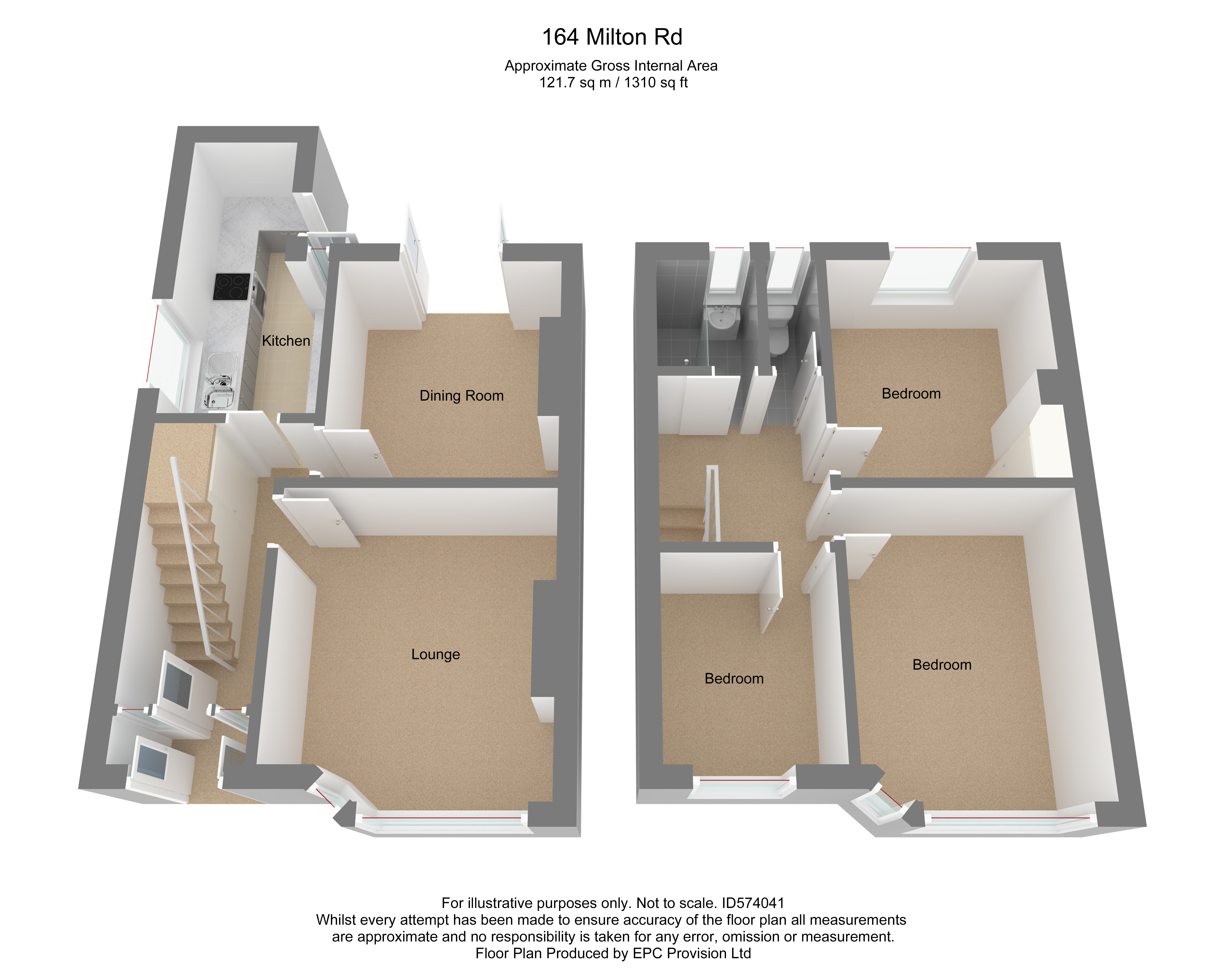 Floorplan for Milton Road, Yate.