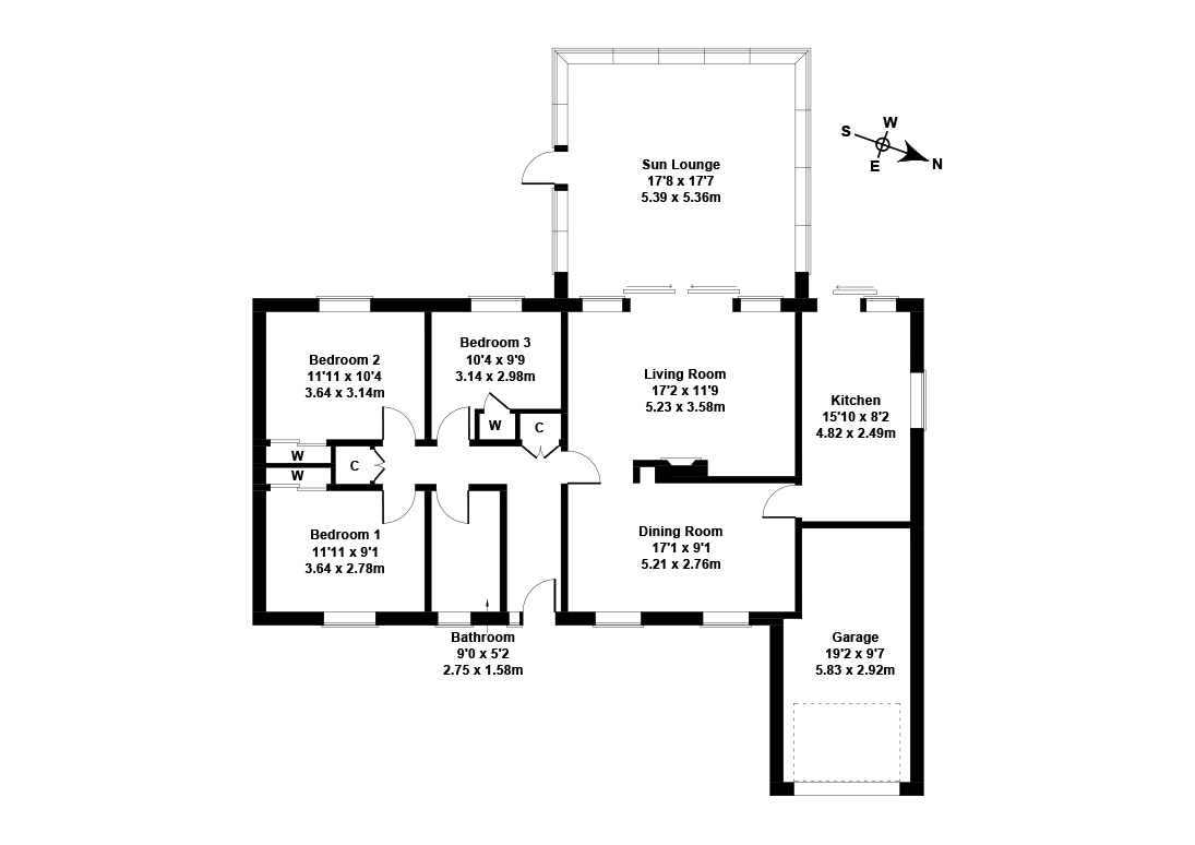 Floorplan 1 of 45 Milton Road, Kilbirnie, North Ayrshire, KA25 7EP