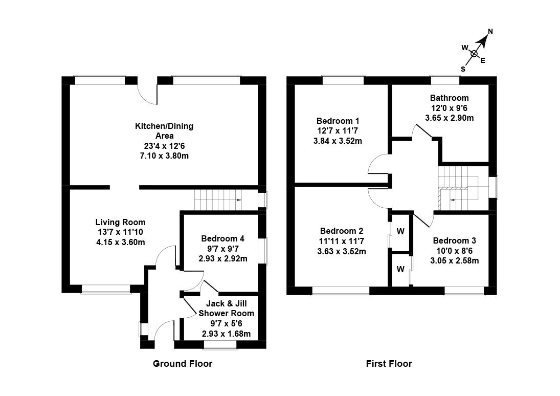 Floorplan 1 of 10 Barnes Green, Livingston, West Lothian, EH54 8PP