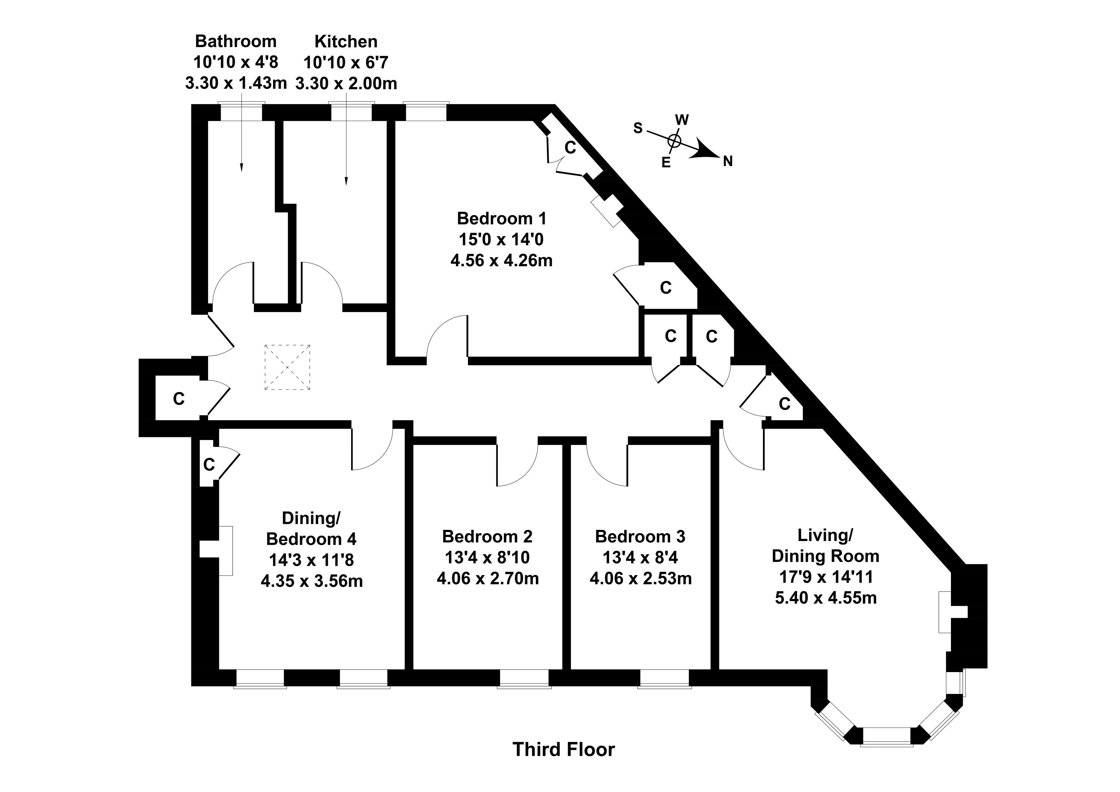 Floorplan 1 of 4/5, Western Gardens, Murrayfield, Edinburgh, EH12 5QD