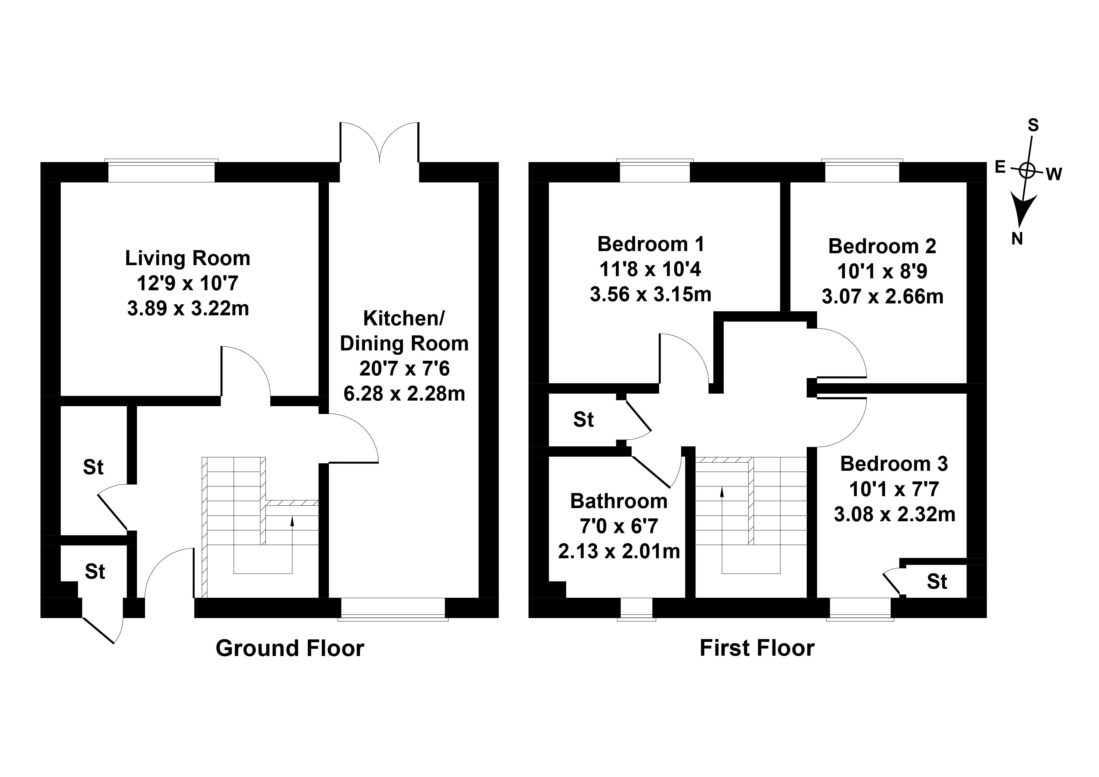 Floorplan 1 of 47 Chestnut Grove, Bo'ness, West Lothian, EH51 0PJ