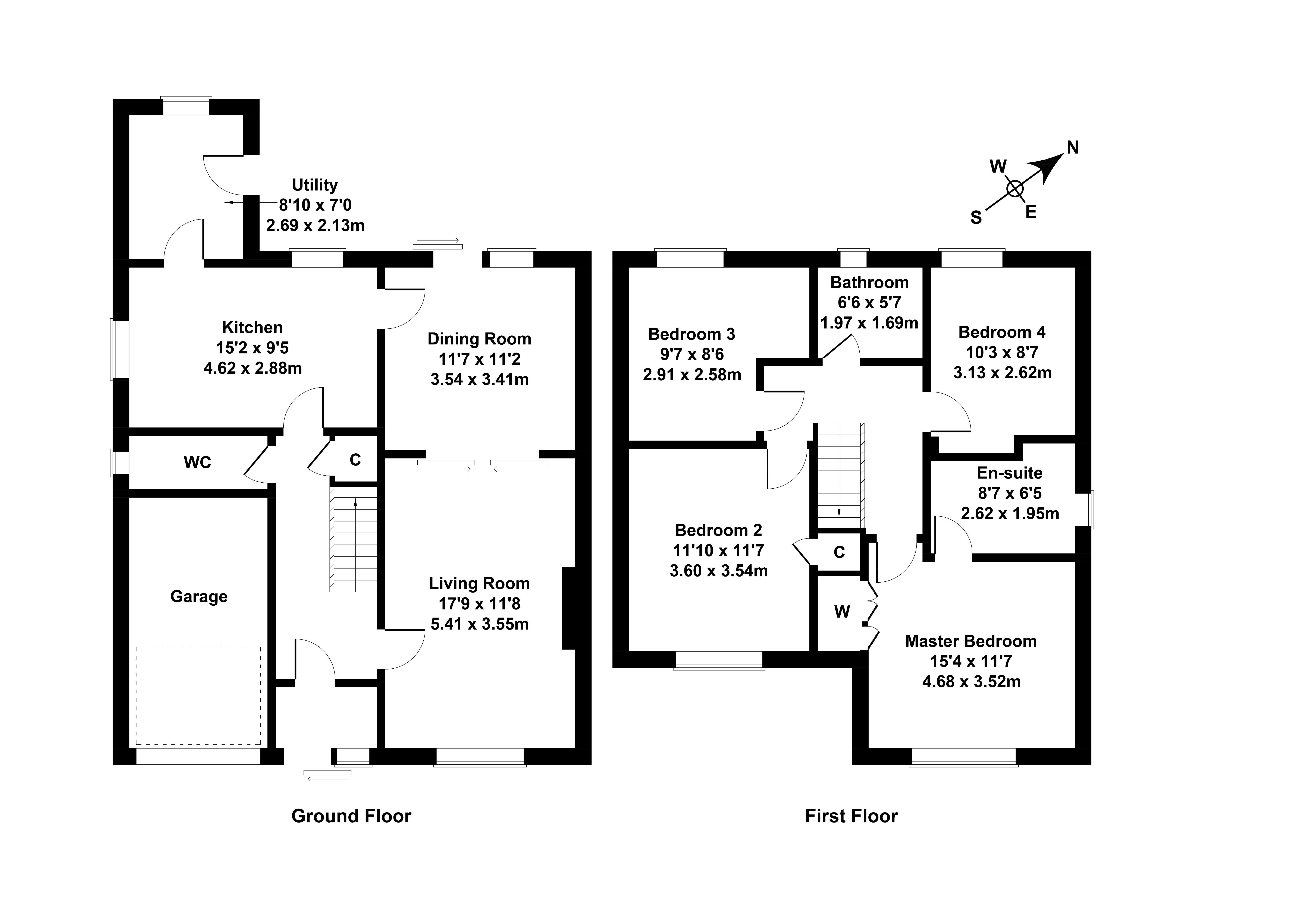 Floorplan 1 of 4 Denholm Way, Musselburgh, East Lothian, EH21 6TT