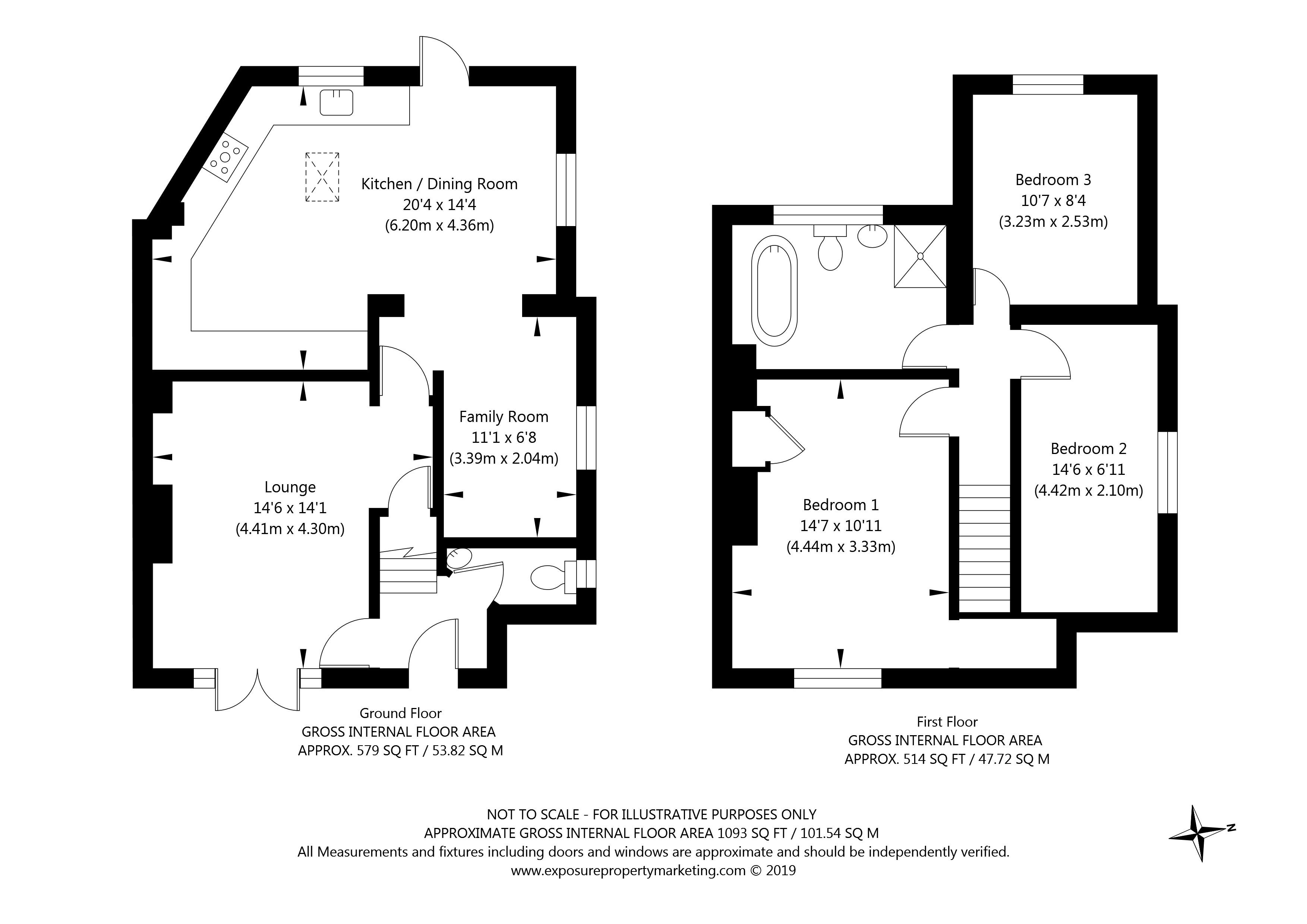 Beech Grove, Upper Poppleton, York property floorplan