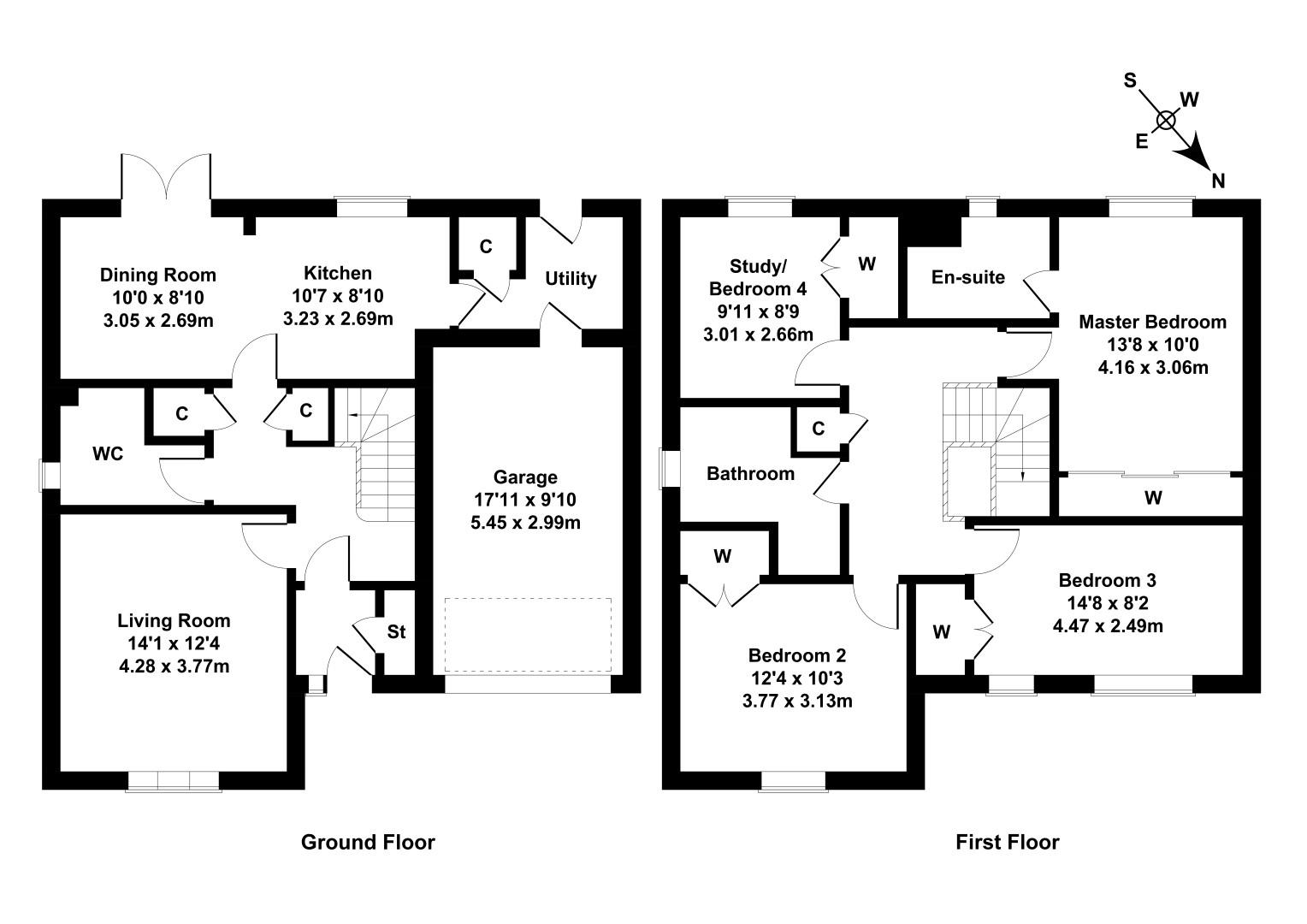 Floorplan 1 of 17 Catelbock Close, Kirkliston, City of Edinburgh, EH29 9FF