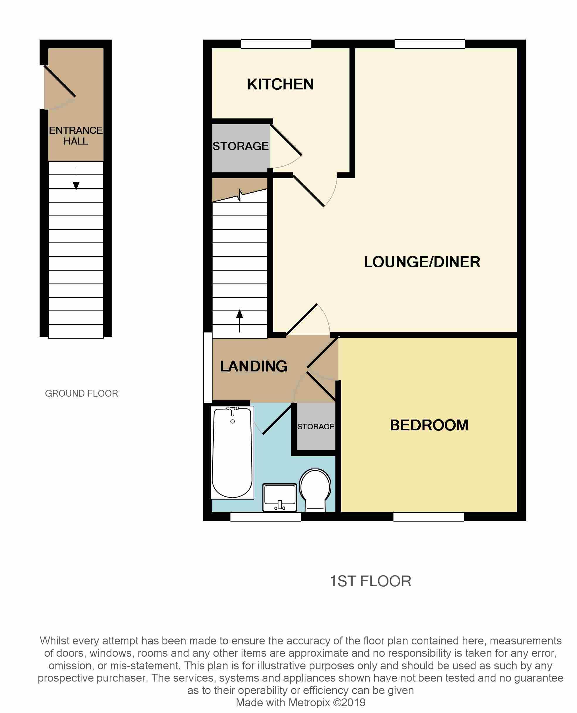 Floorplan for Ash Close, Yate.