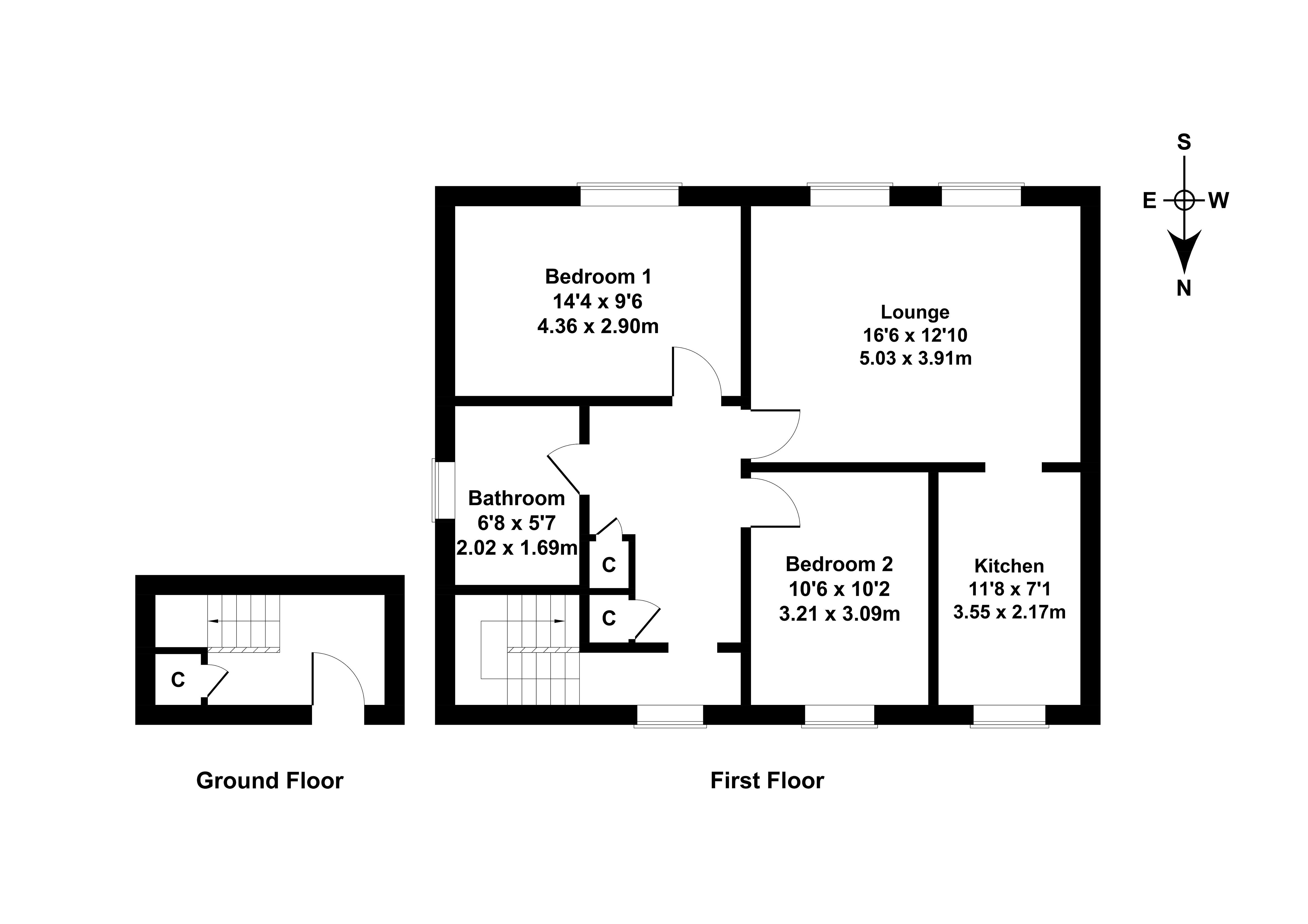 Floorplan 1 of 17 Kenilworth Drive, Liberton, Edinburgh, EH16 6DD
