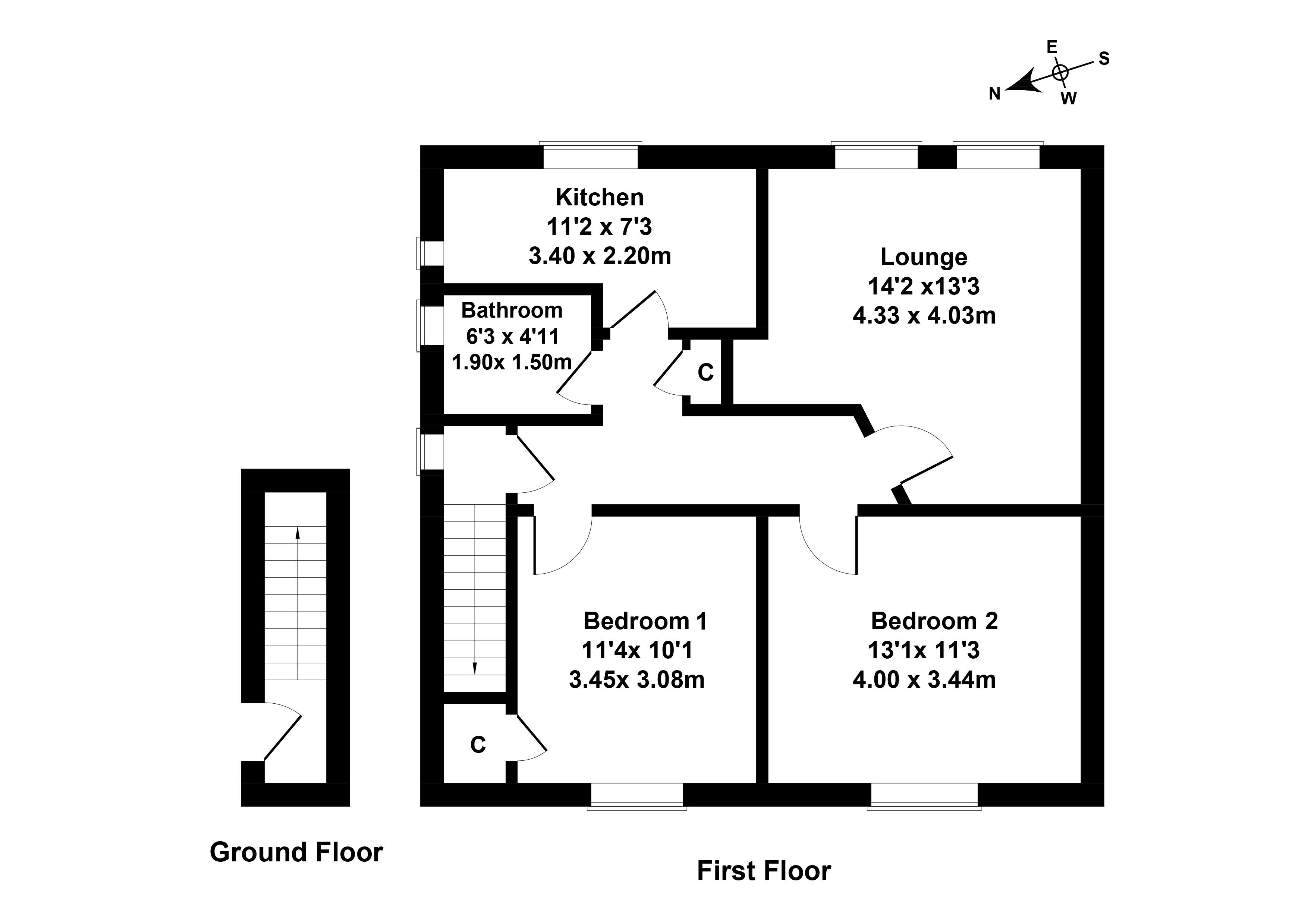 Floorplan 1 of 30 Sighthill Avenue, Sighthill, Edinburgh, EH11 4QP