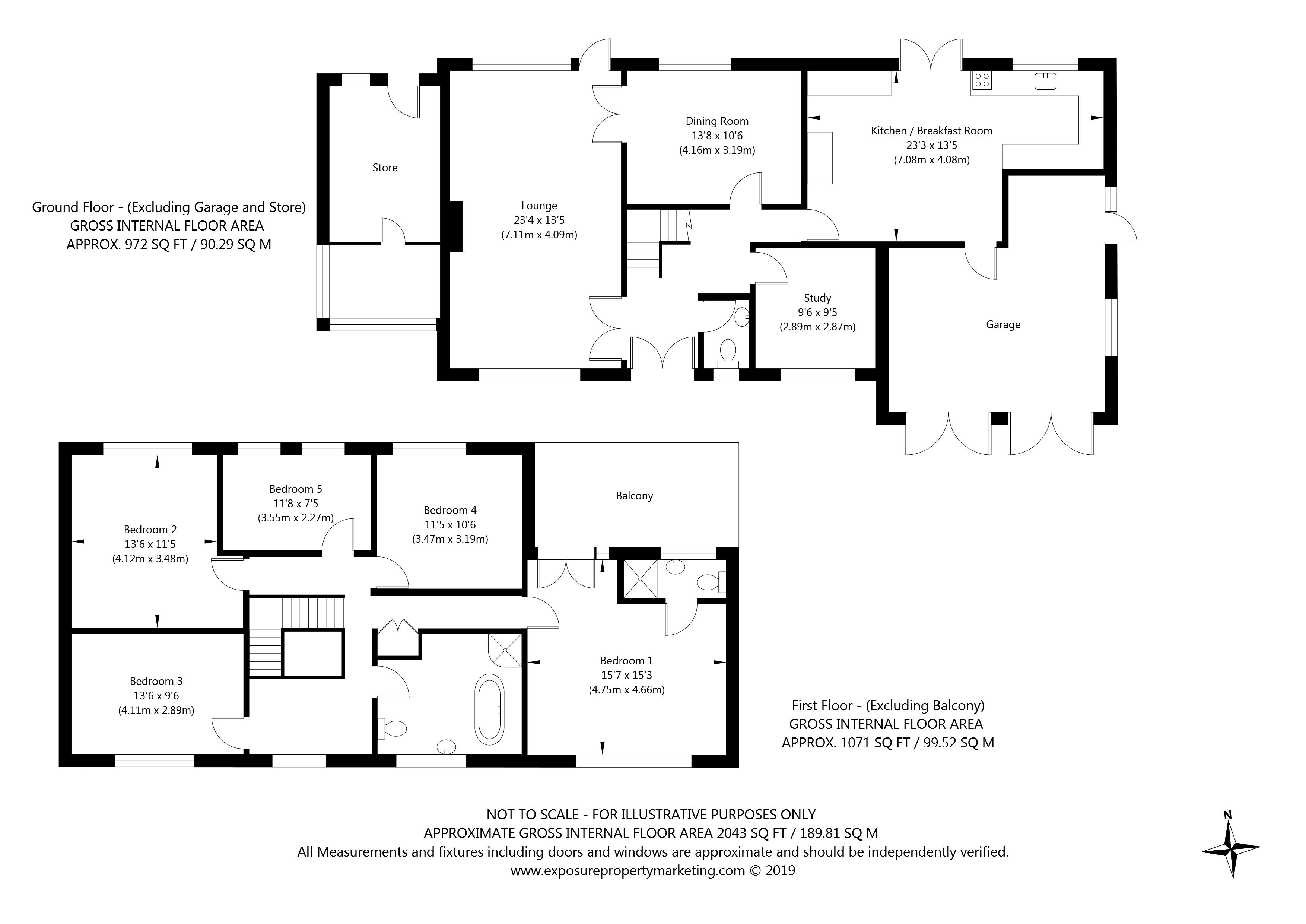 East End, Sheriff Hutton, York property floorplan