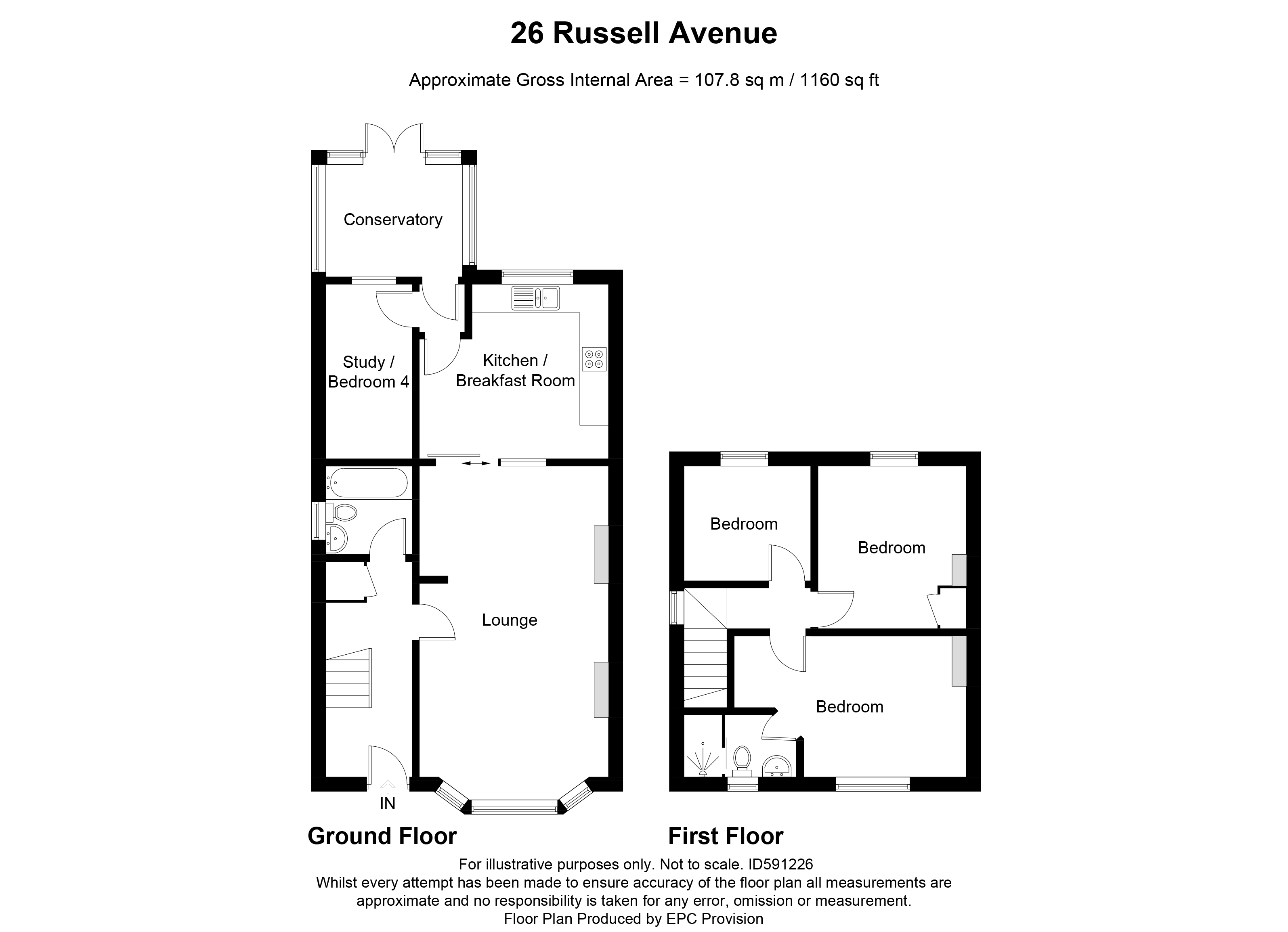 Floorplan for Russell Avenue, Bristol.