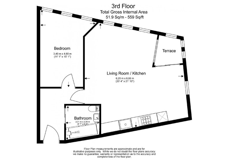 1 bedroom(s) apartment to sale in 5 Central St Giles Piazza, London-Floorplan