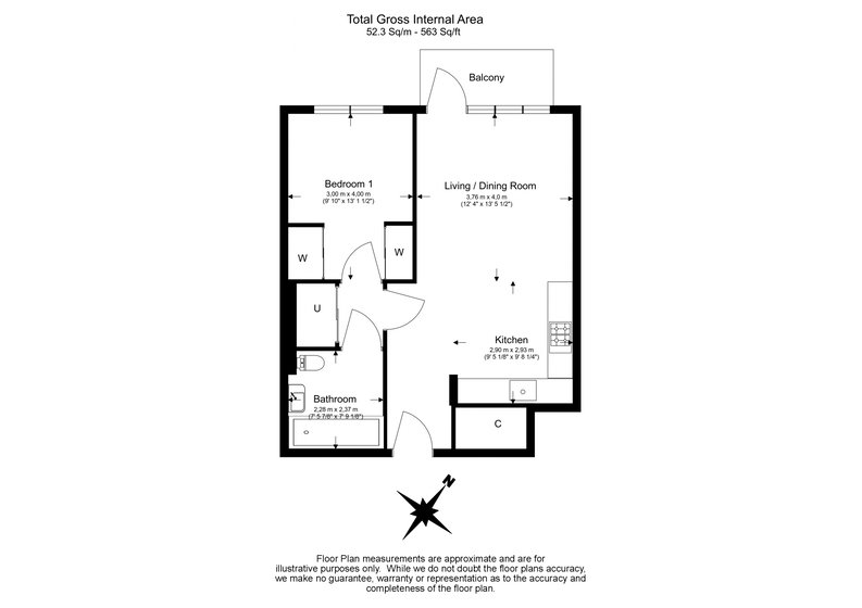 1 bedroom(s) to sale in Lincoln Building, White City Living, Wood Lane-Floorplan
