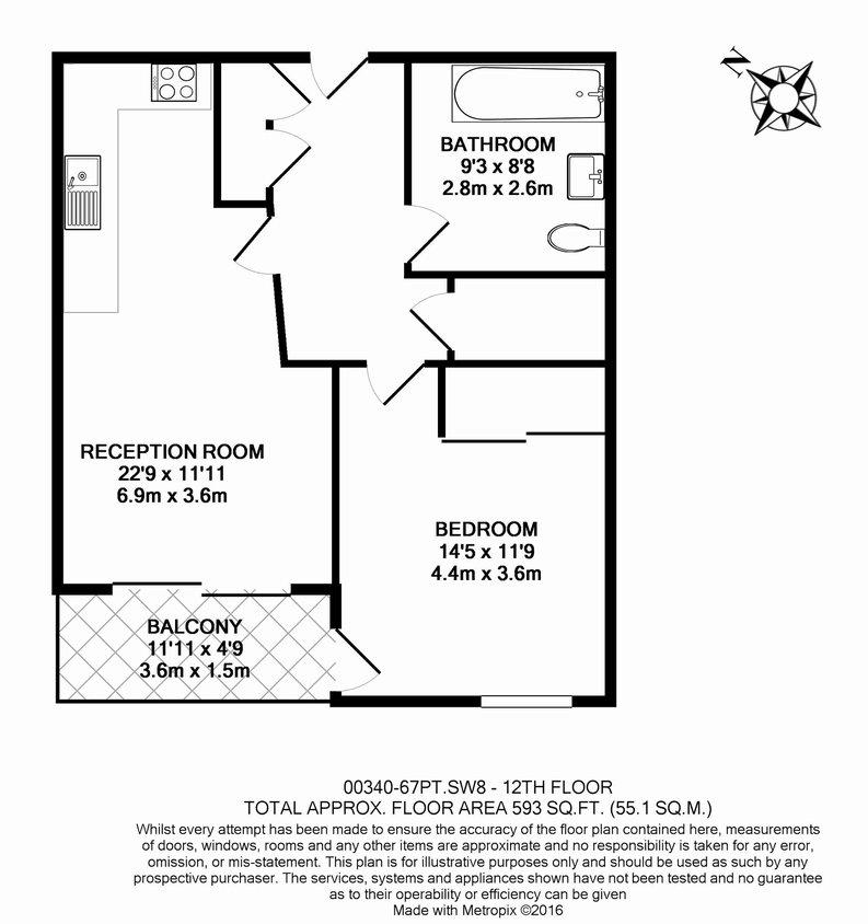 1 bedroom(s) apartment to sale in Pinto Tower, 4 Hebden Place, London-Floorplan