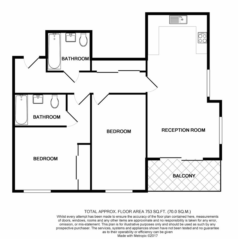 2 bedroom(s) apartment to sale in Reverence House, 8 Lismore Boulevard, Colindale-Floorplan