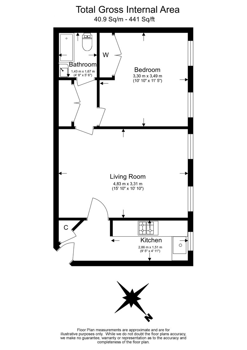 1 bedroom(s) apartment to sale in Park West, Edgware Road, London-Floorplan