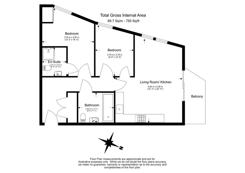 2 bedroom(s) apartment to sale in Hippersley Point, 4 Tilston Bright Square, London-Floorplan