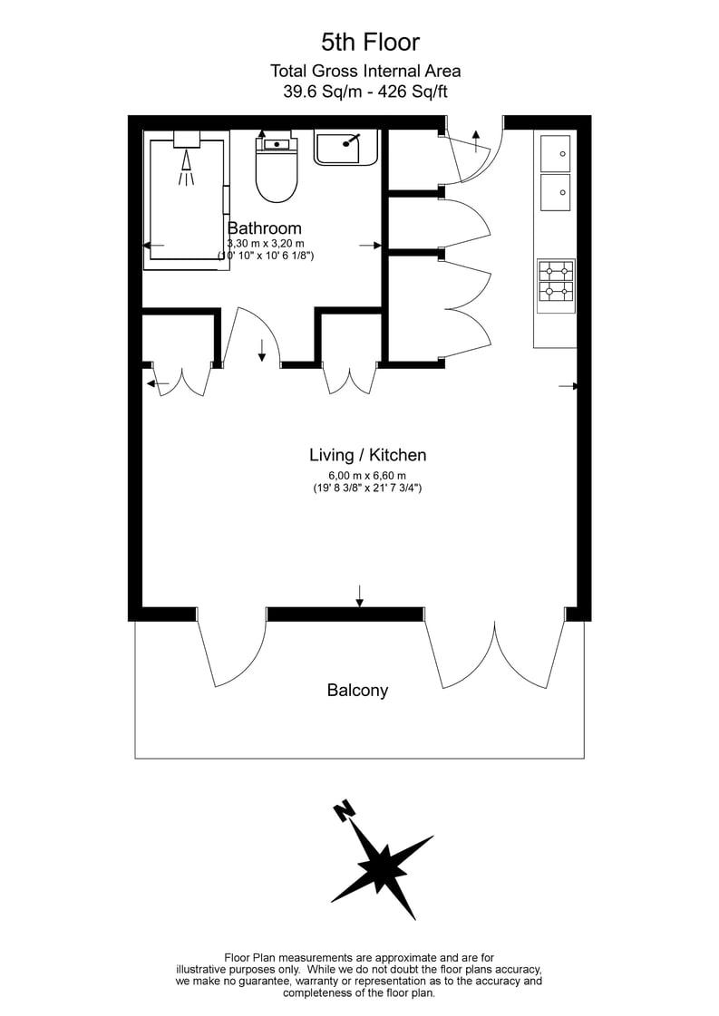 1 bedroom(s) apartment to sale in Ambassador Building, 5 New Union Square, London-Floorplan