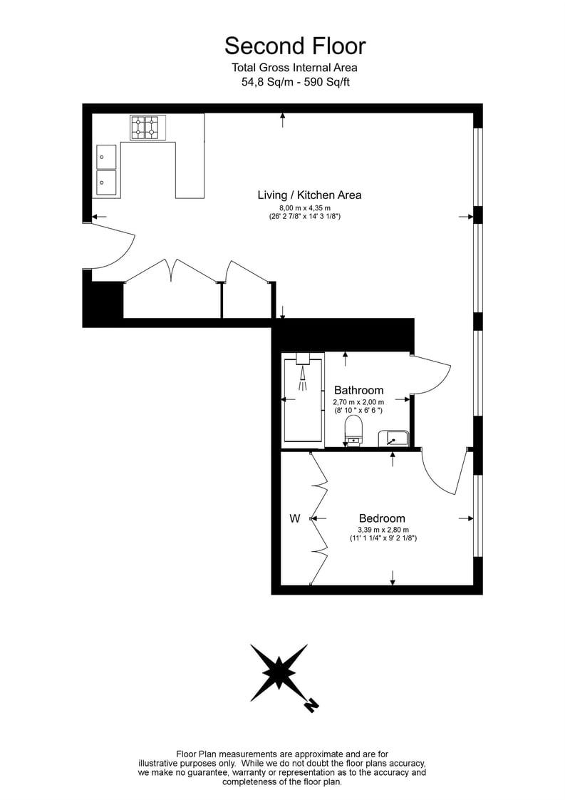 1 bedroom(s) apartment to sale in The Nova Building, 87 Buckingham Palace Road, London-Floorplan