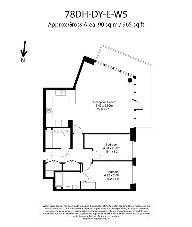2 bedroom(s) apartment to sale in Dashwood Apartments, Dickens Yard, Longfield Avenue-Floorplan