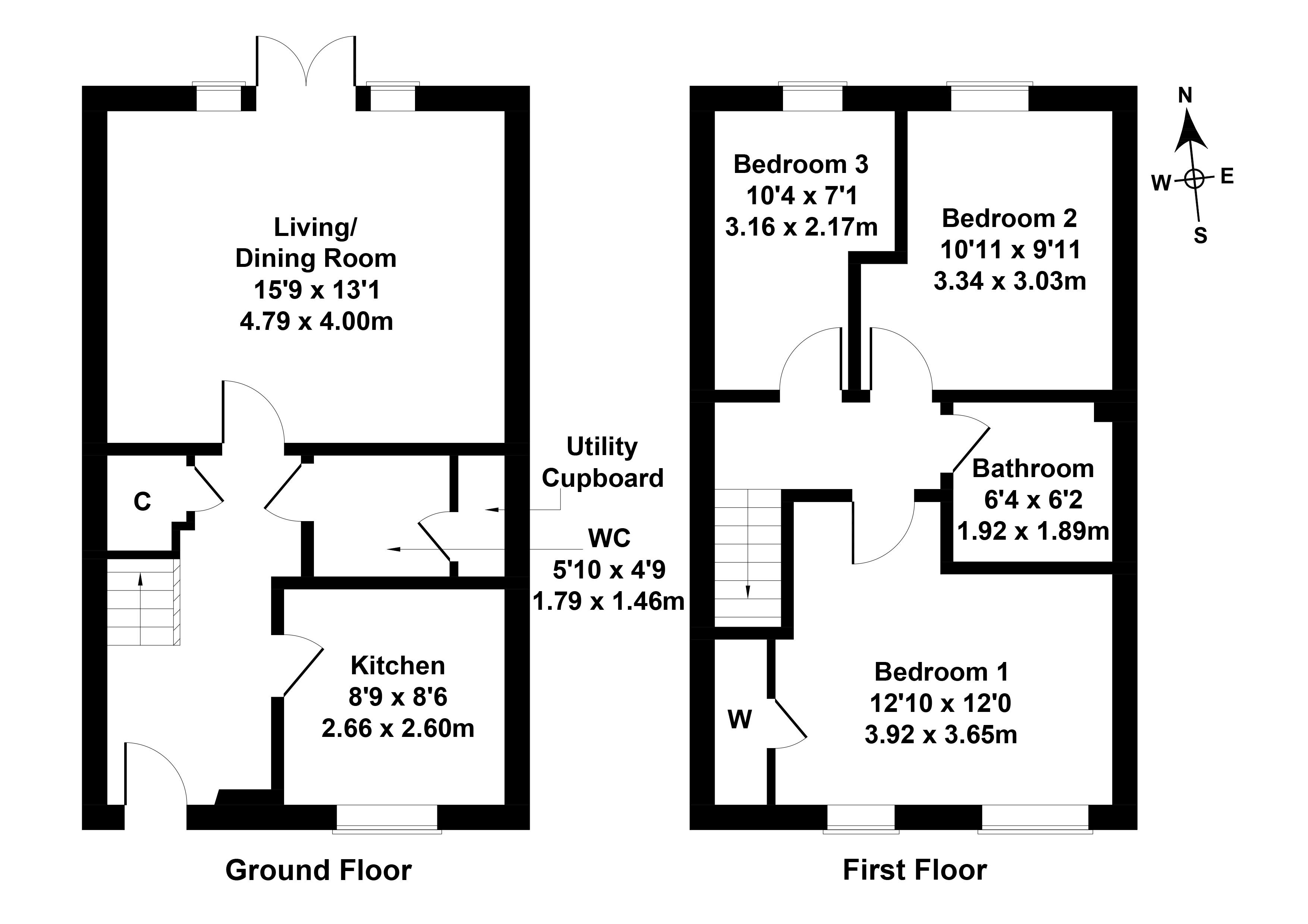 Floorplan 1 of 61 Kirklands Park Street, Kirkliston, City of Edinburgh, EH29 9EY