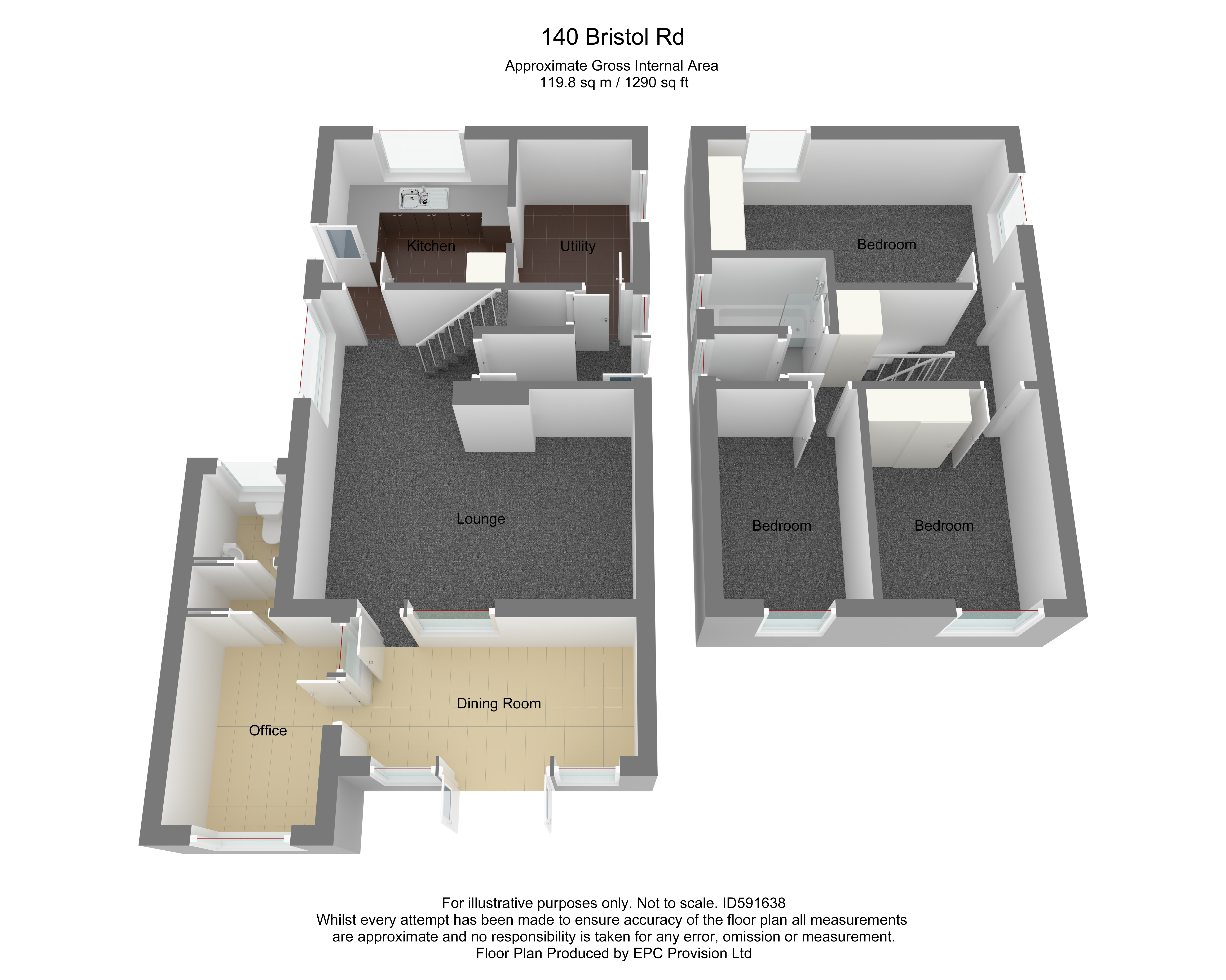 Floorplan for Bristol Road, Frampton Cotterell.