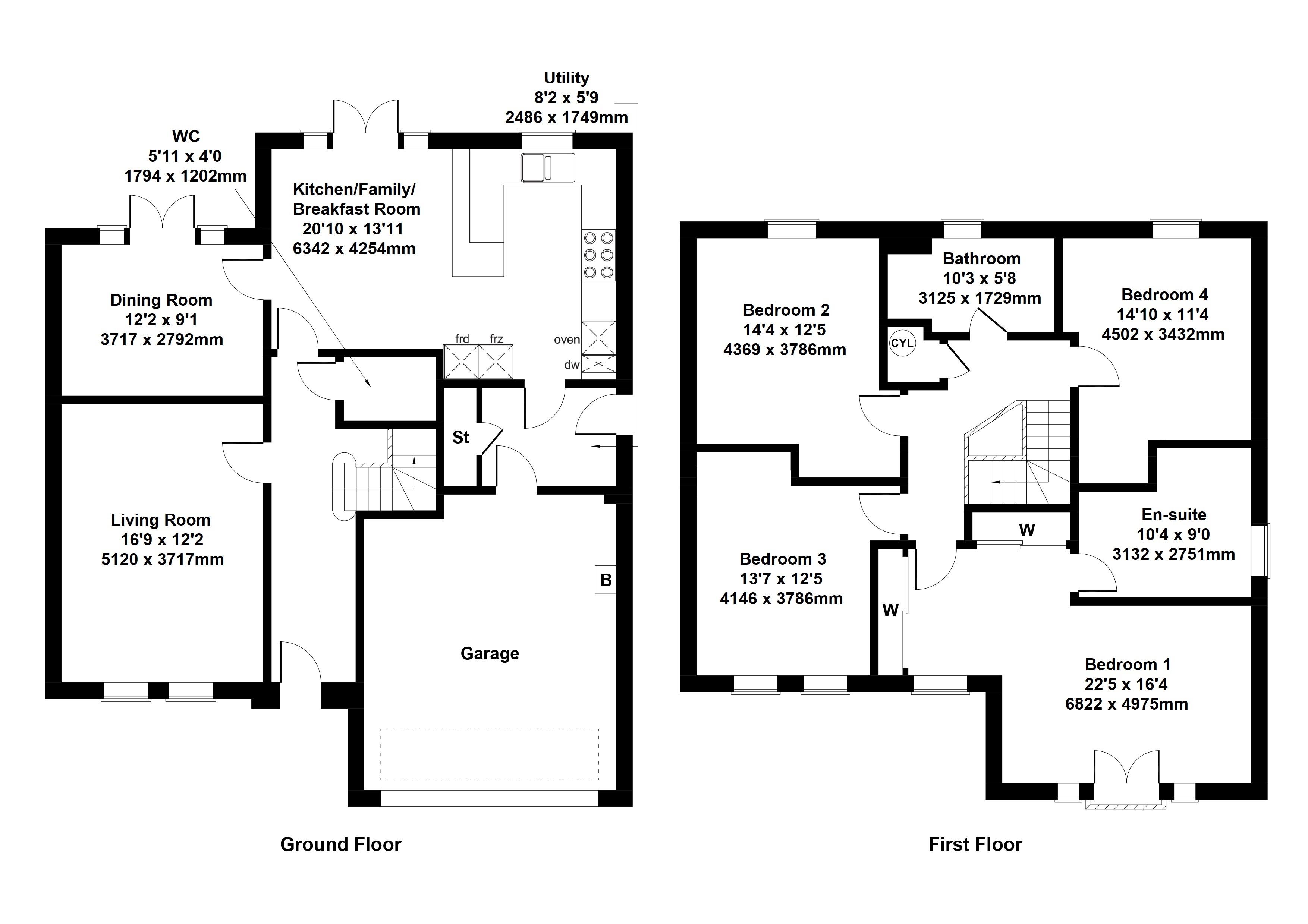 Floorplan 1 of The Colville  Mallets Rise, Malletsheugh Road , Newton Mearns , Glasgow, East Renfrewshire, G77 6PR
