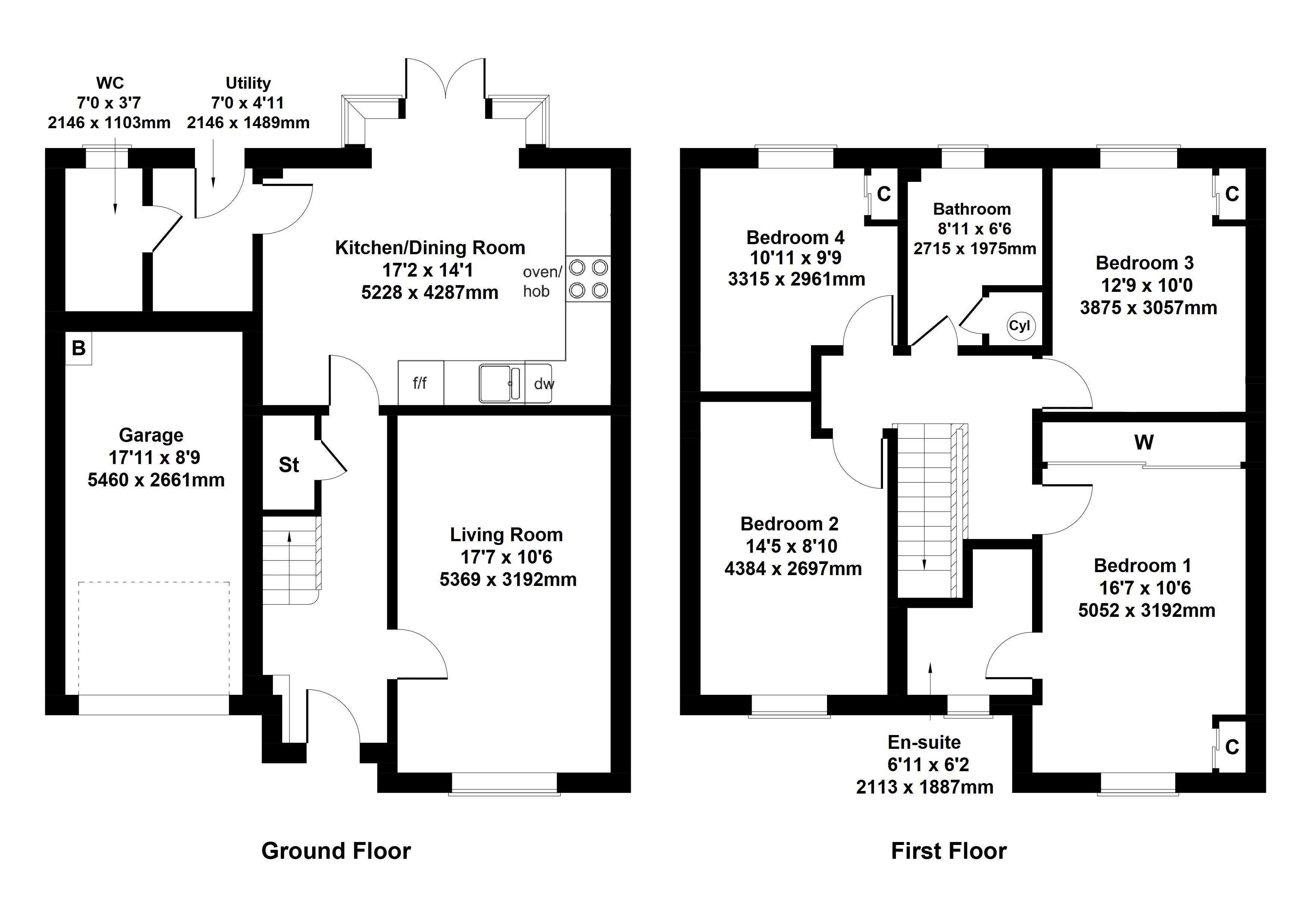 Floorplan 1 of The Dunbar  Abbey View, Abbey Road, Elderslie, Johnstone, Renfrewshire, PA5 9JJ