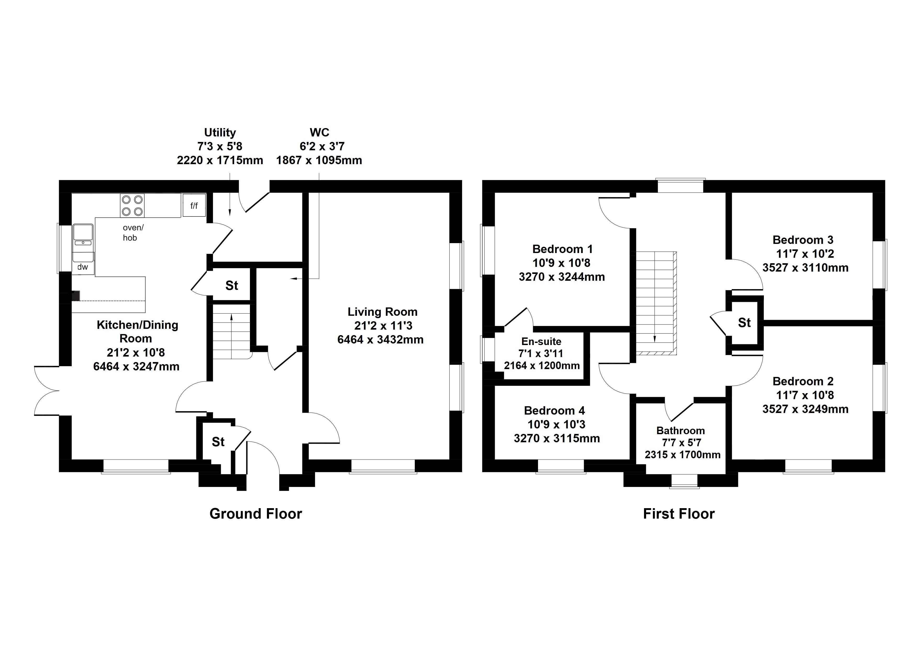Floorplan 1 of The Craigston  Barrochan Road , Brookfield , Johnstone , Renfrewshire, PA6 7AA