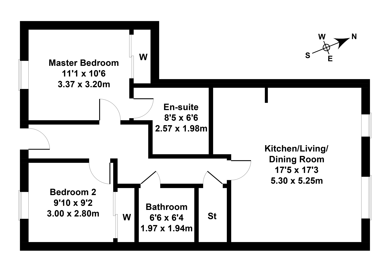 Floorplan 1 of 22 New Mart Place, Chesser, Edinburgh, EH14 1TX