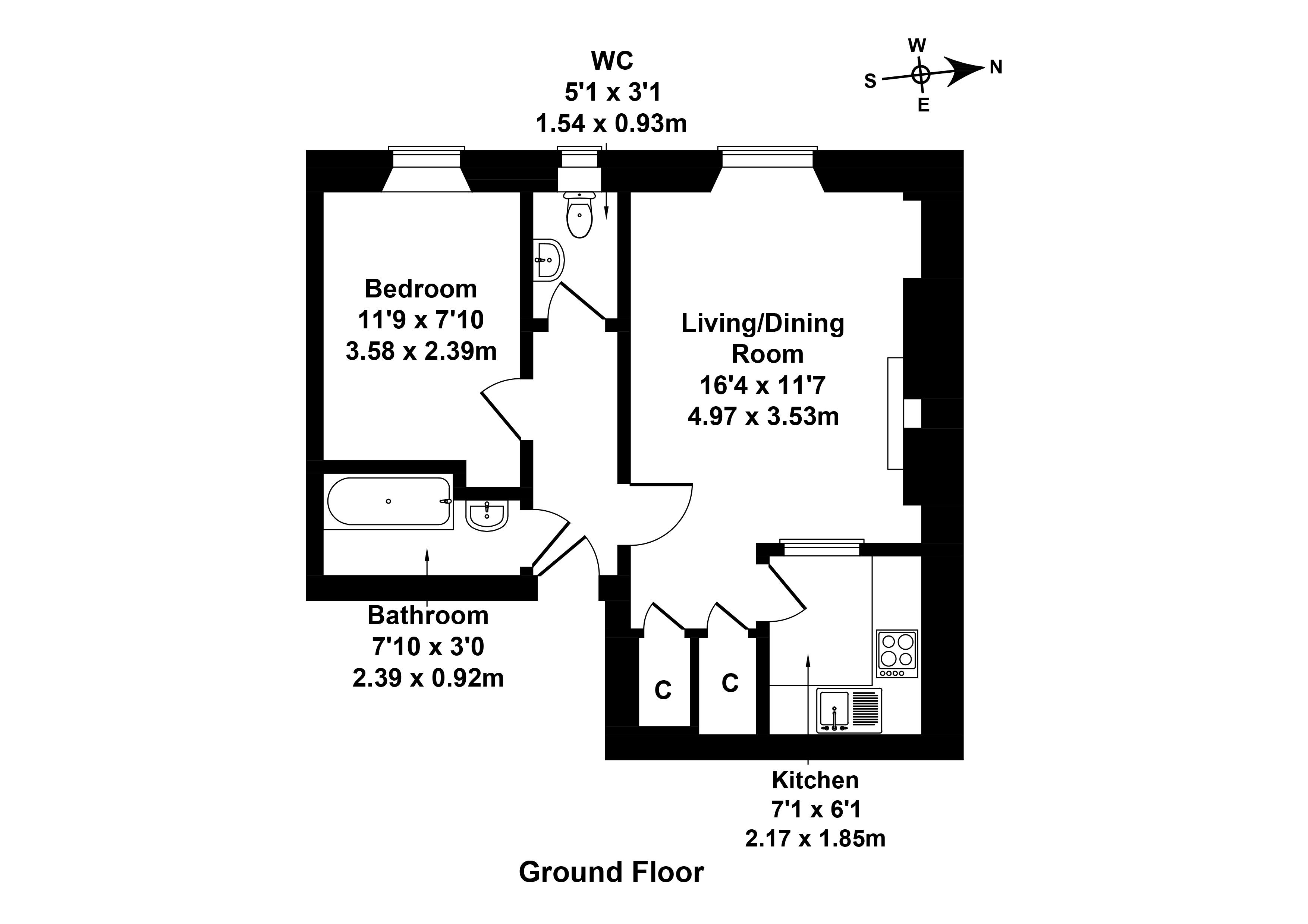 Floorplan 1 of 27/3, Halmyre Street, Leith, Edinburgh, EH6 8QE