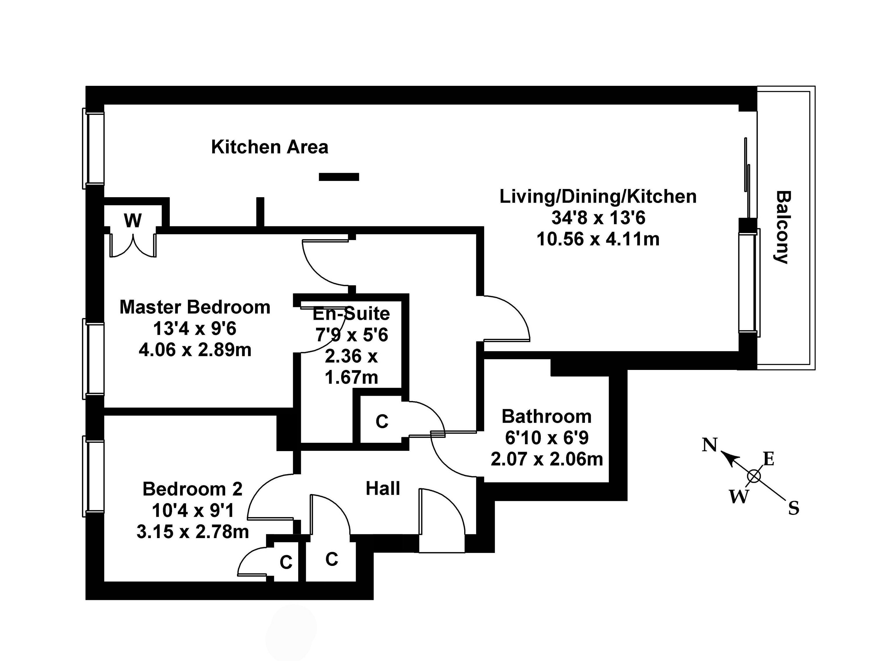 Floorplan 1 of Flat 6, 9 East Pilton Farm Avenue, Fettes, Edinburgh, EH5 2QW