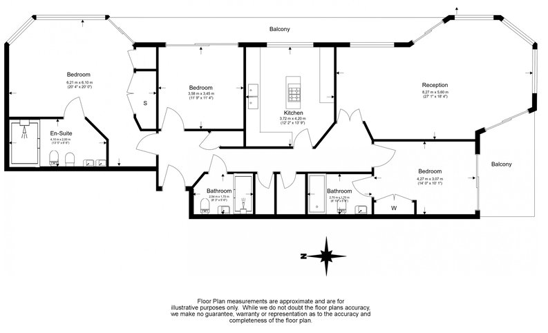3 bedroom(s) apartment to sale in Riverside Tower, The Boulevard, Imperial Wharf-Floorplan