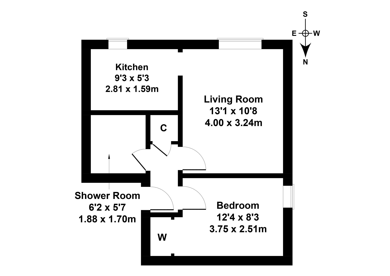 Floorplan 1 of 96/2, Parkhead Avenue, Parkhead, Edinburgh, EH11 4RJ