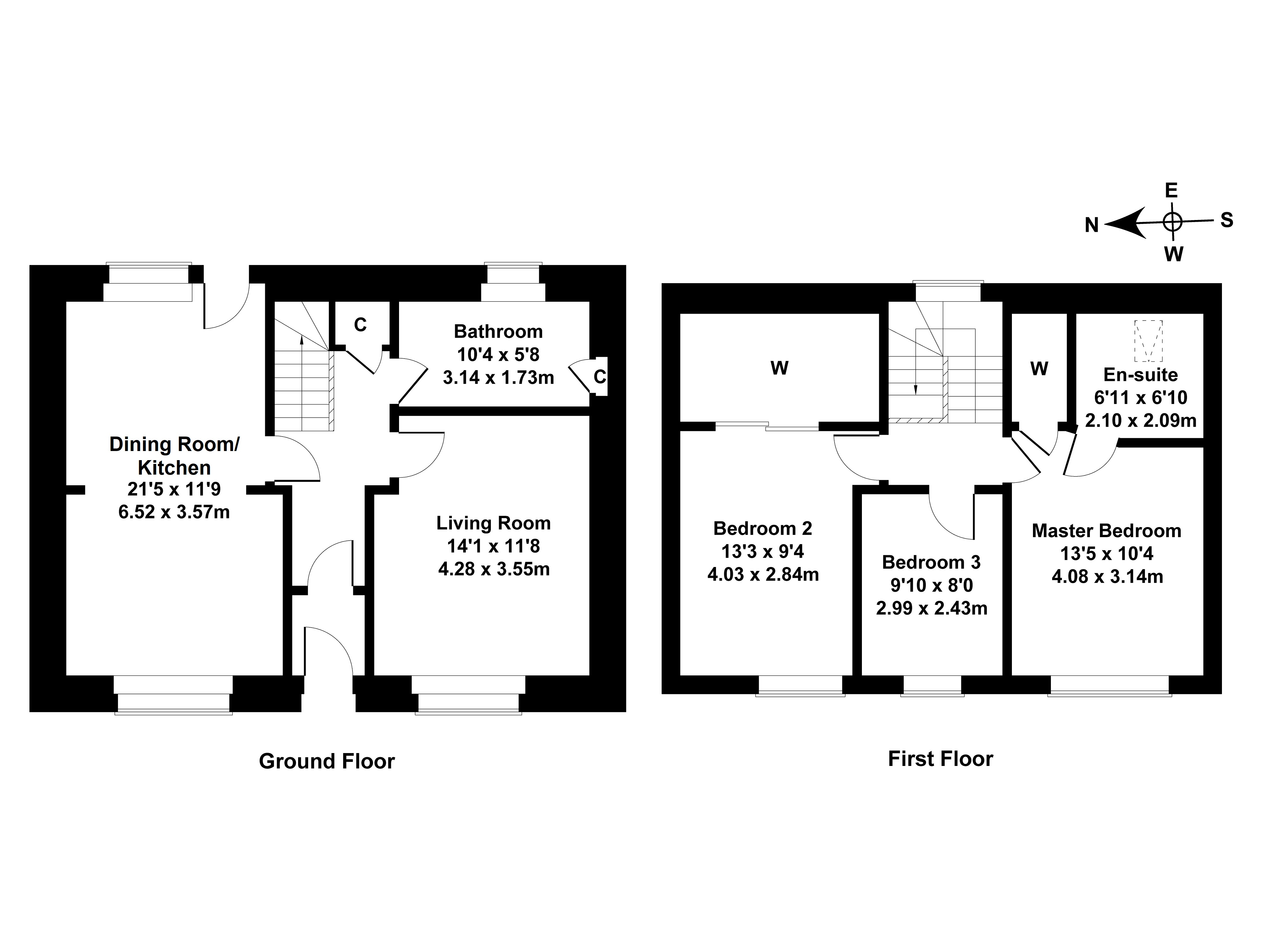Floorplan 1 of  2 The Square, Fetterangus, Peterhead, Aberdeenshire, AB42 4EN