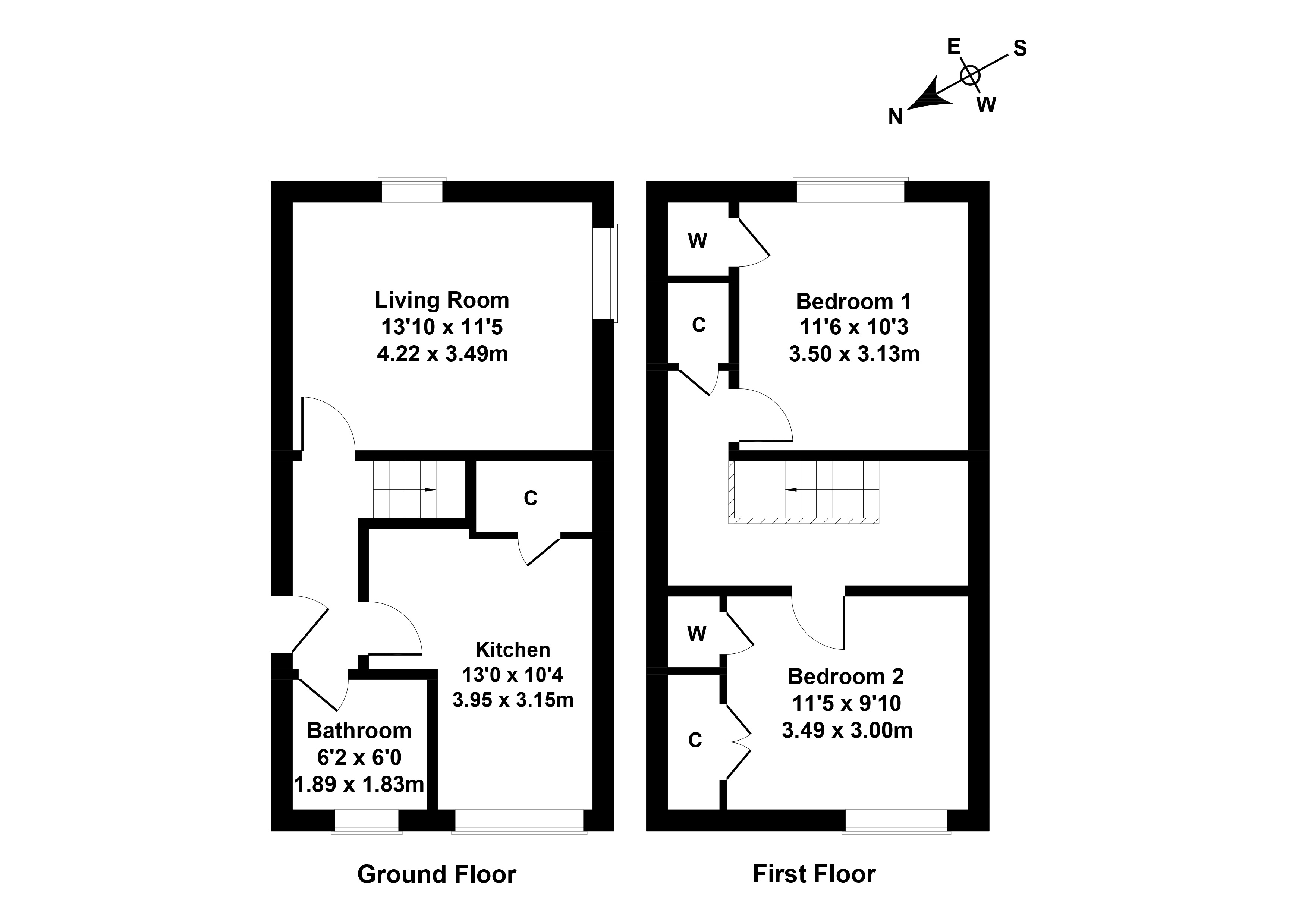 Floorplan 1 of 65b Eskside West, Musselburgh, East Lothian, EH21 6RA